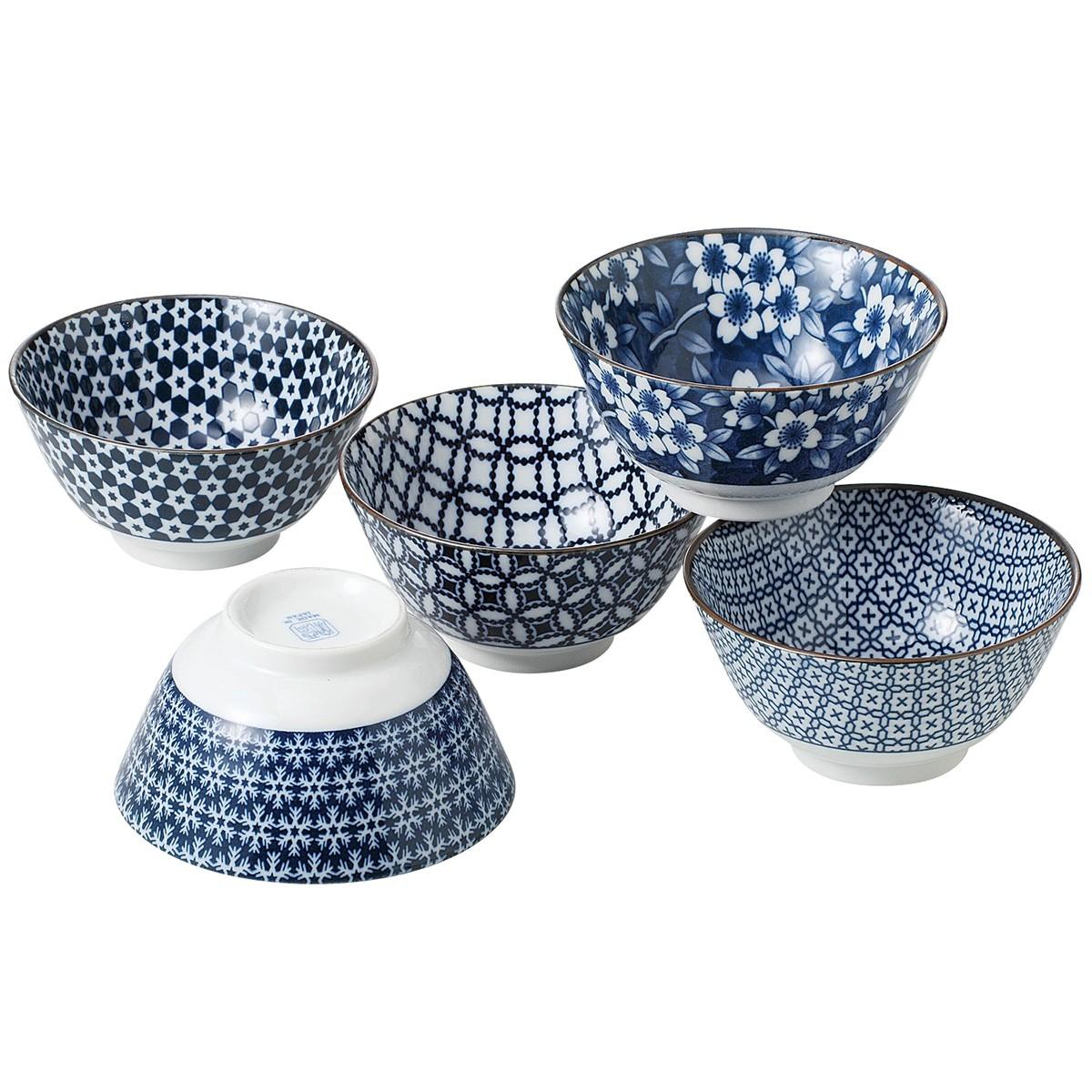 Nami 5 Piece Porcelain Multi Bowl Set