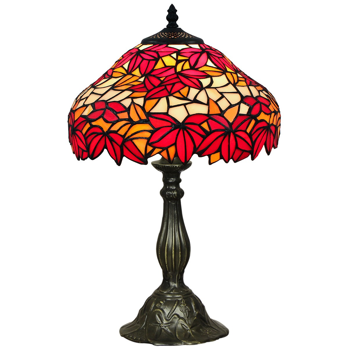 Maiden Tiffany Stained Glass Table Lamp, Small