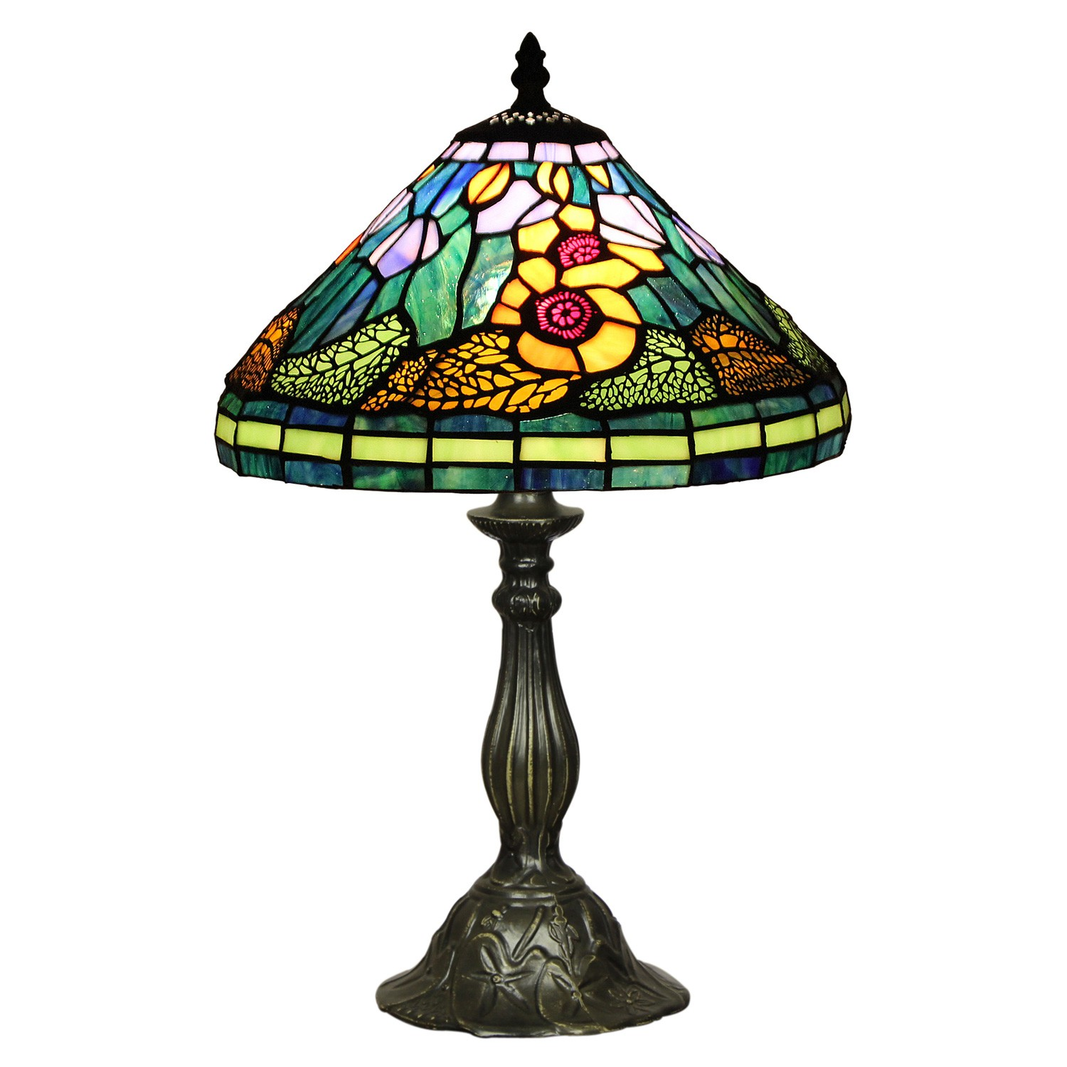 Susanne Tiffany Stained Glass Table Lamp, Small