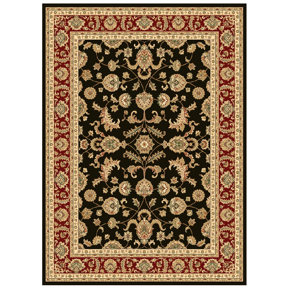 Julian Tait Turkish Made Oriental Rug, 150x80cm, Black / Red