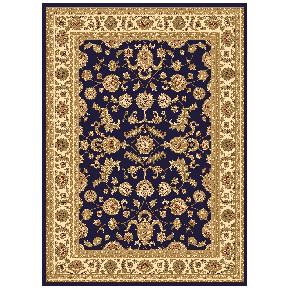 Julian Tait Turkish Made Oriental Rug, 150x80cm, Navy / Cream