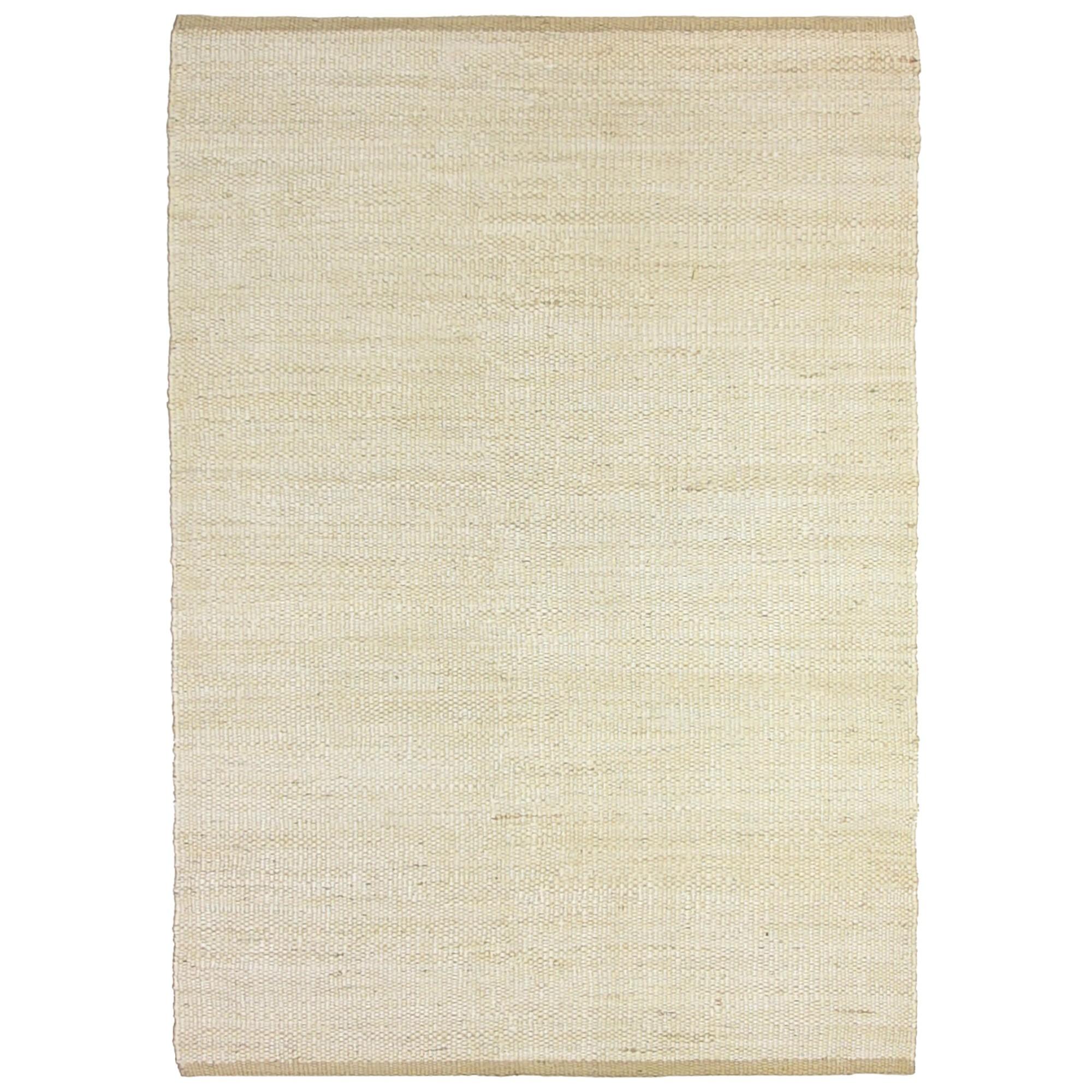 Reuss Handwoven Jute Rug, 160x230cm, White