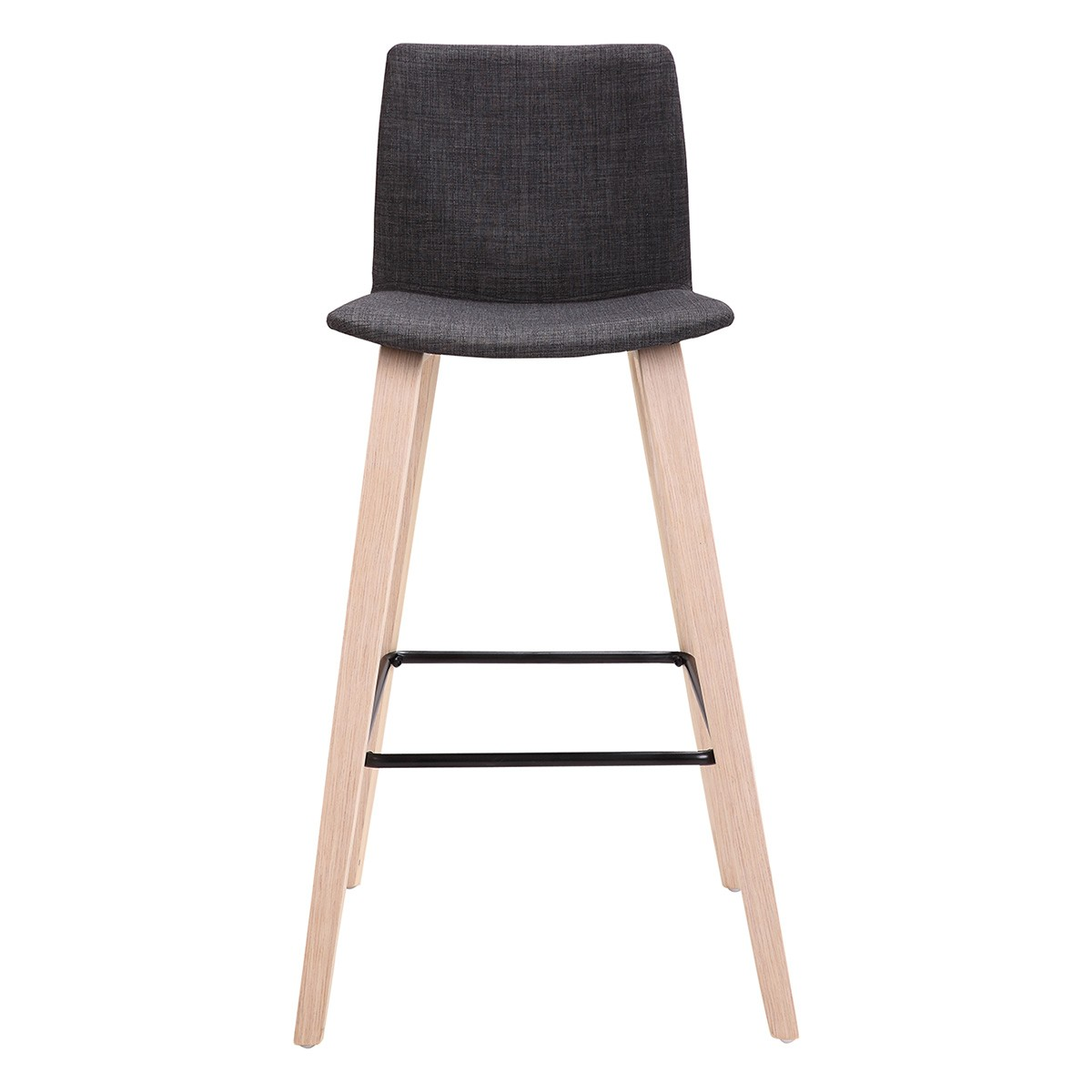 Straight Shooter Wooden Counter Stool with Fabric Seat