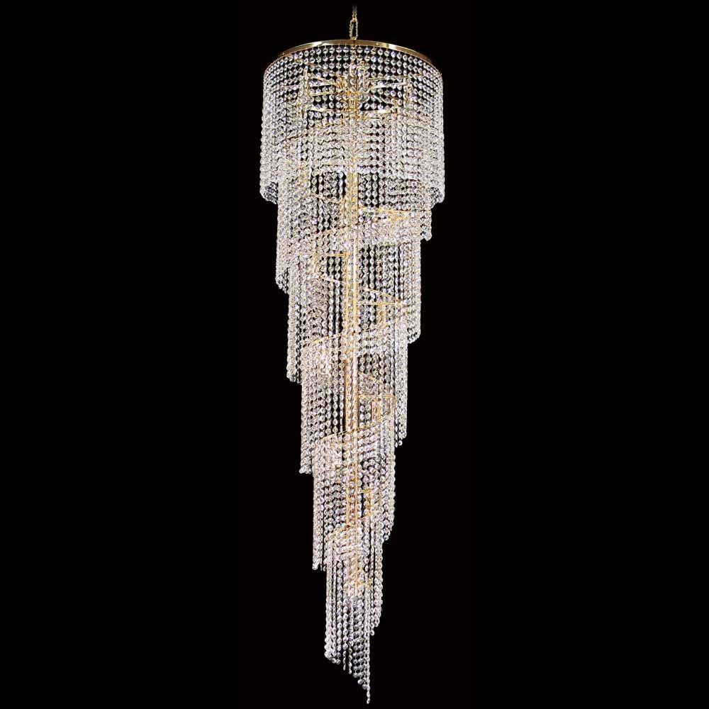 Eos Asfour Crystal Pendant Light / Chandelier, 51cm, Gold