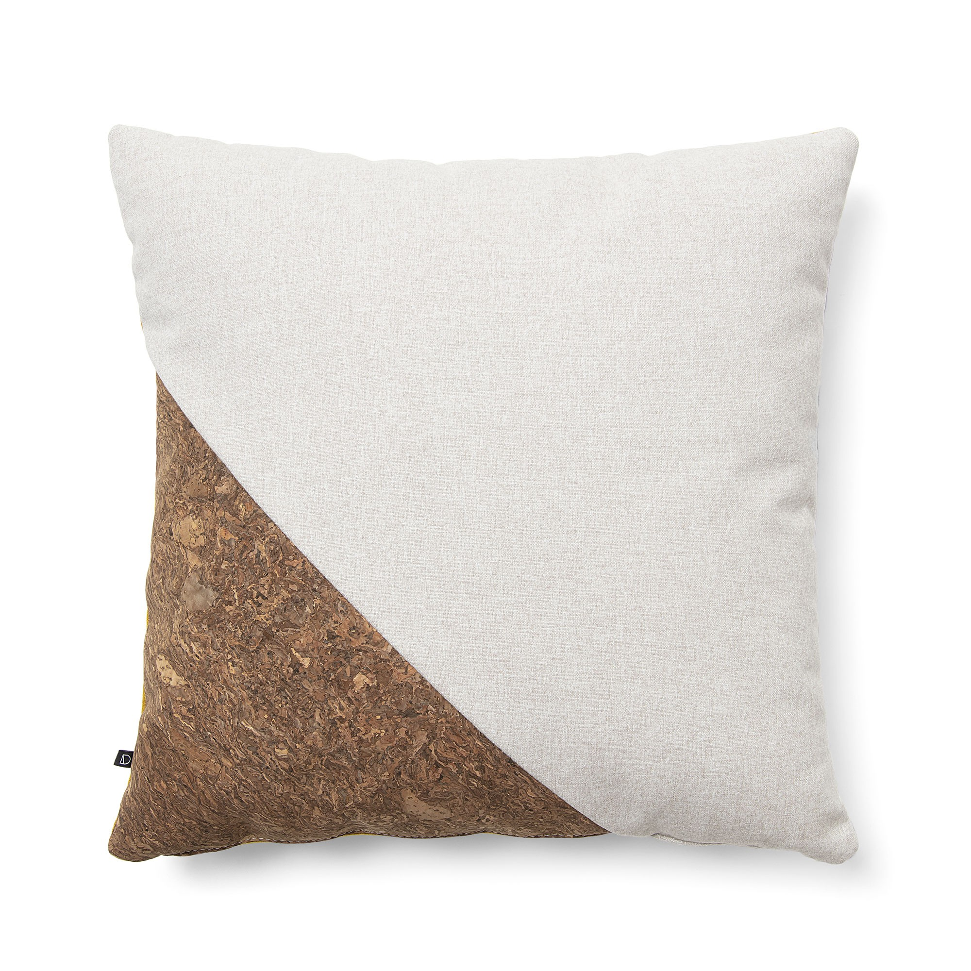 Osborne Fabric Scatter Cushion, Beige / Cork / Mustard
