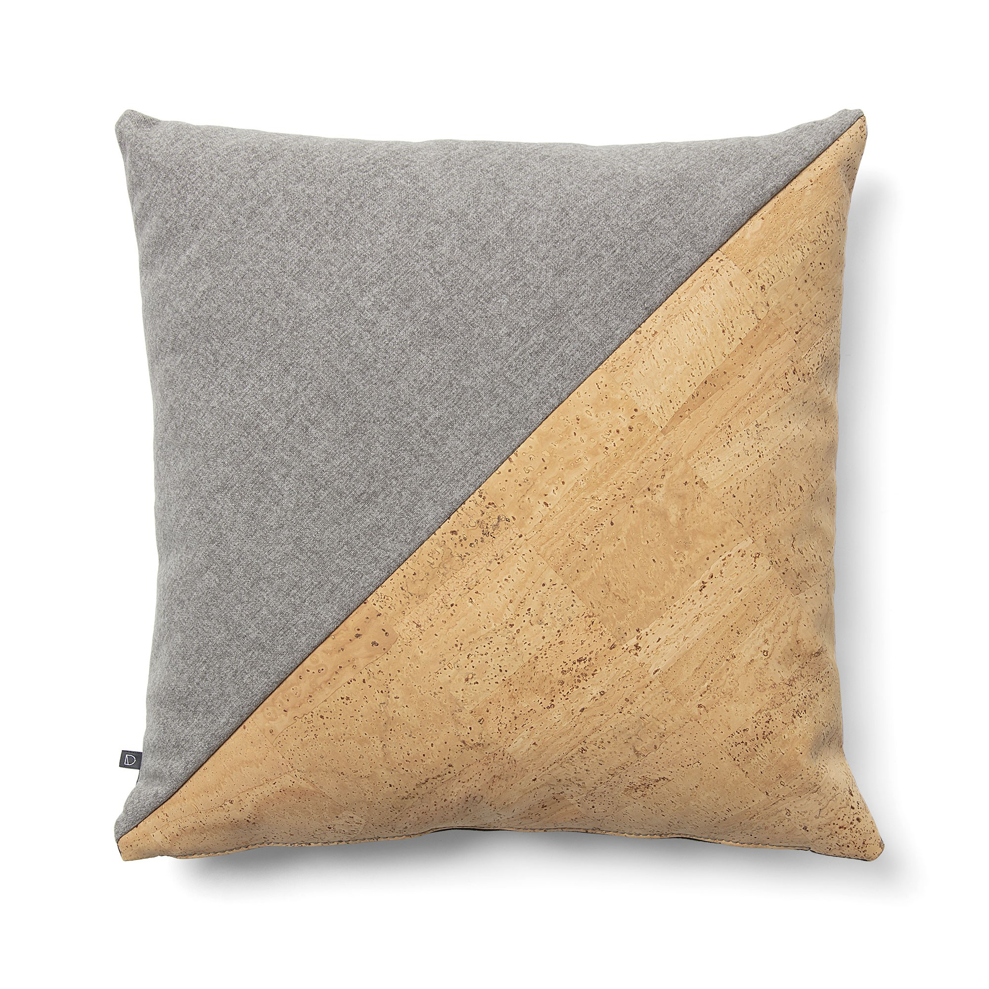 Osborne Fabric Scatter Cushion, Grey / Cork / Graphite