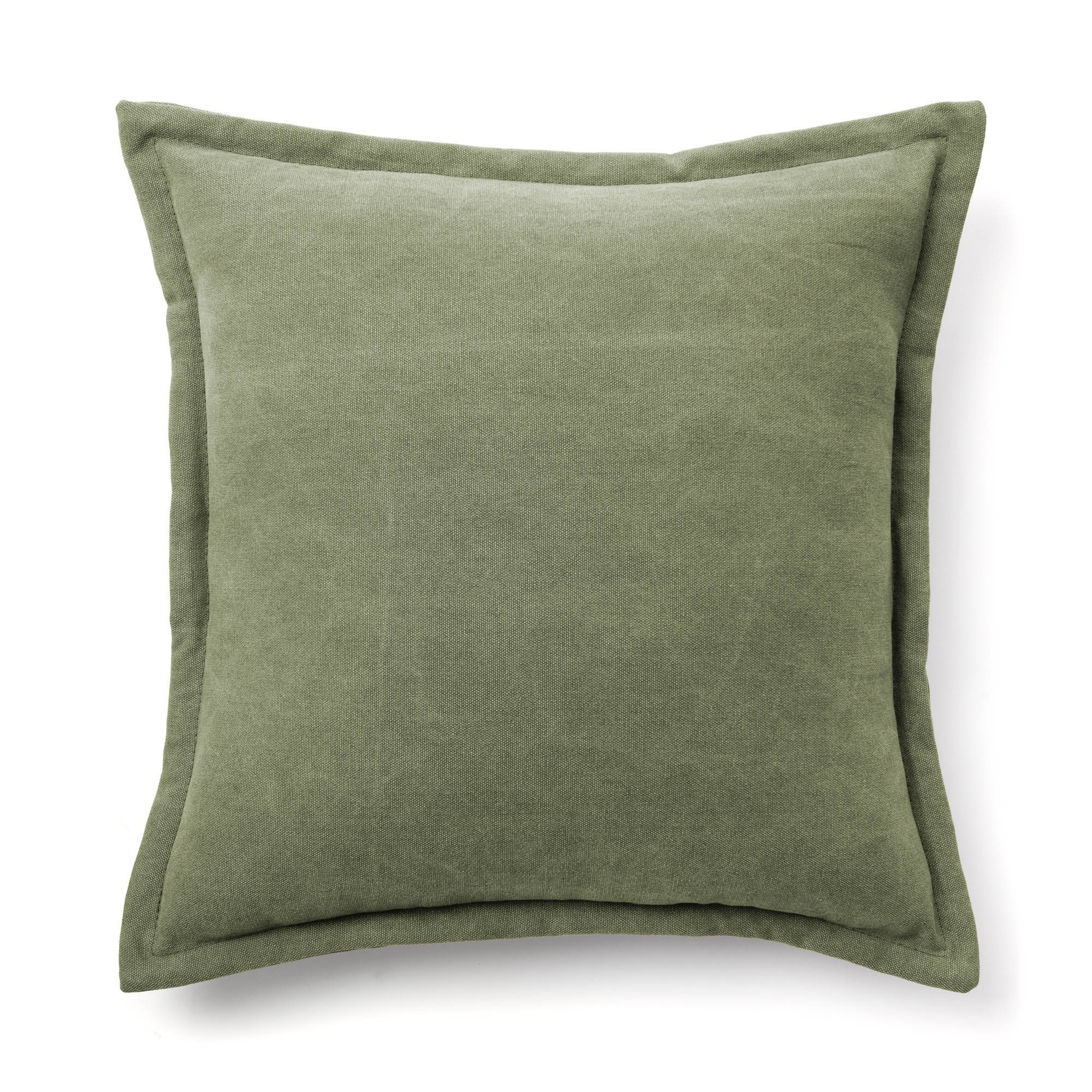 Walden Cotton Fabric Scatter Cushion, Green