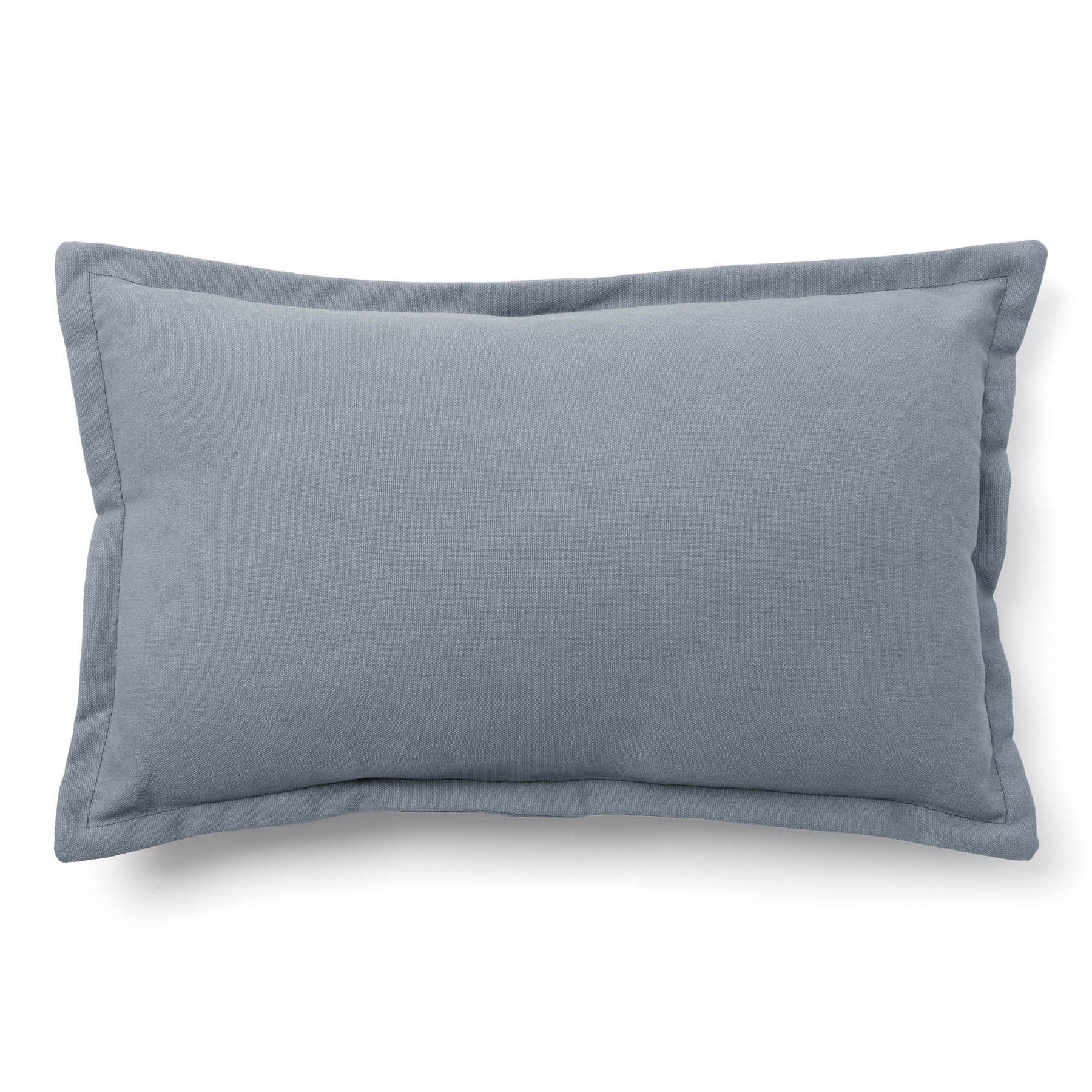 Walden Cotton Fabric Lumbar Cushion, Blue