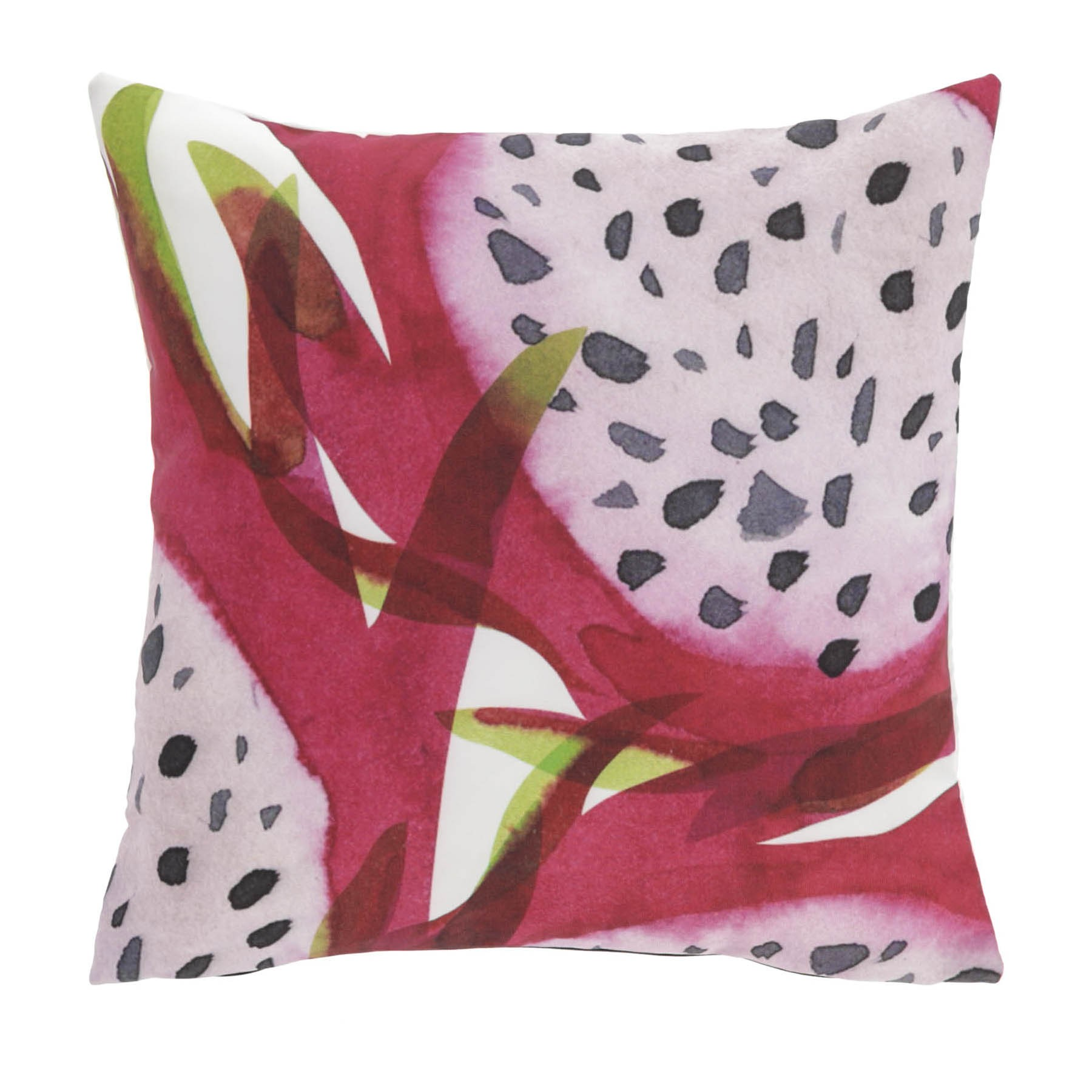 Hilo Fabric Indoor / Outdoor Scatter Cushion, Dragon Fruit