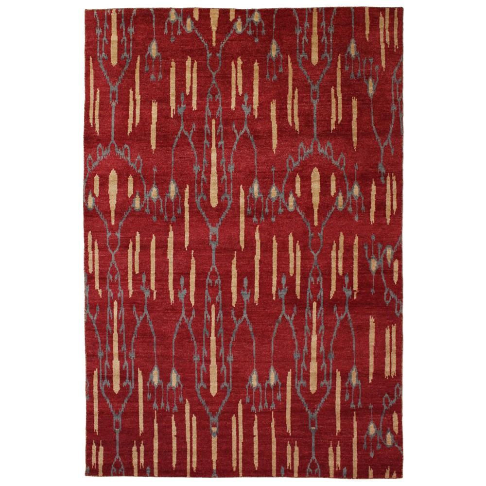 Ikat No.843 Modern Wool Rug, 90x60cm