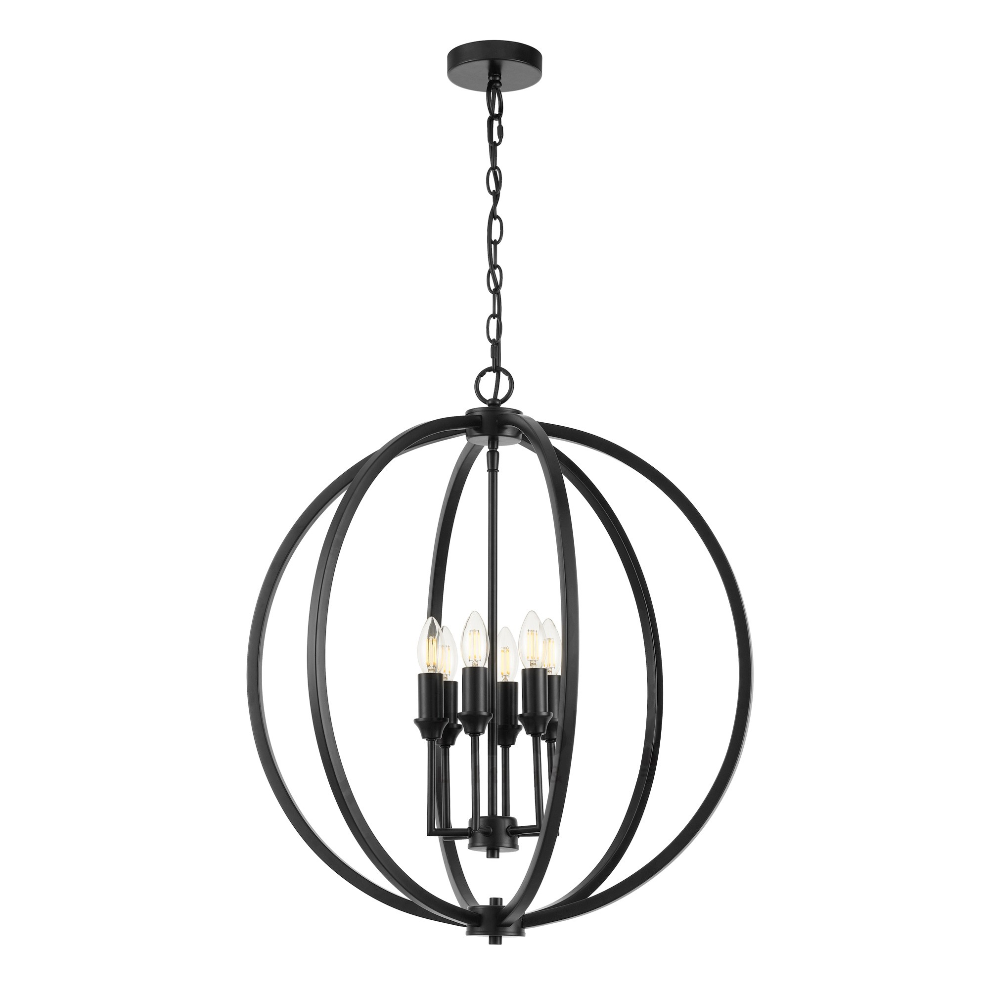 Kendall Metal Sphere Pendant Light, Large, Black