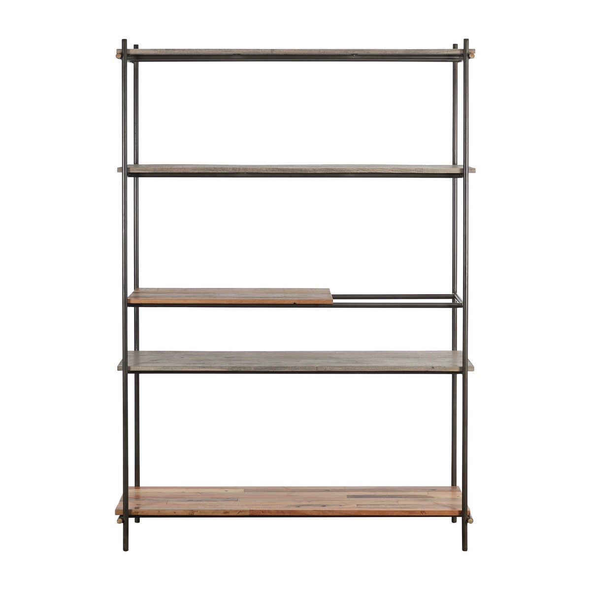 Discreet Reclaimed Timber & Metal Display Shelf