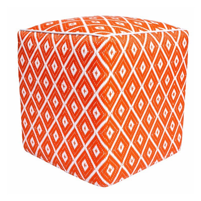 Kimberley Outdoor Ottoman - Orange