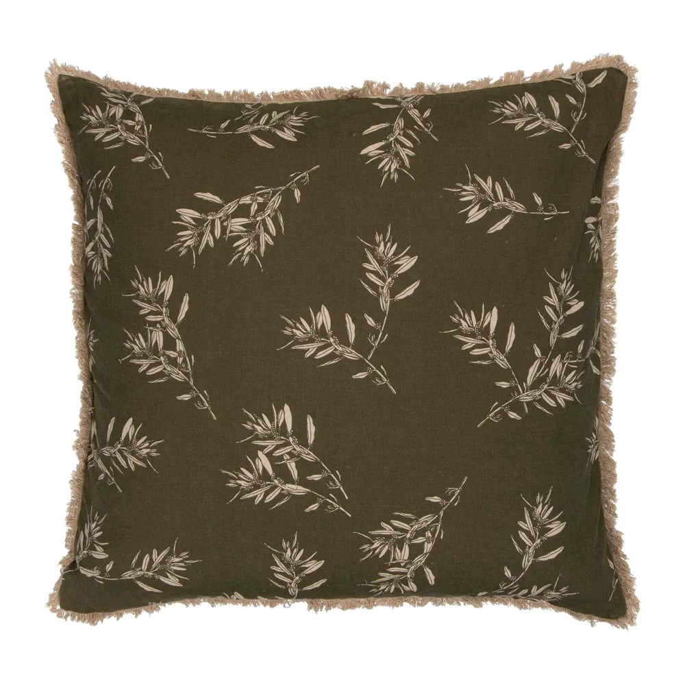 Olive Grove & Cotswold Fabric Euro Cushion, Olive