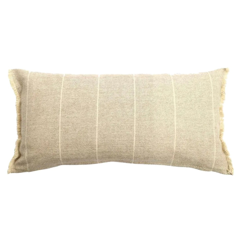 Scott Cotton Lumbar Cushion, Stone