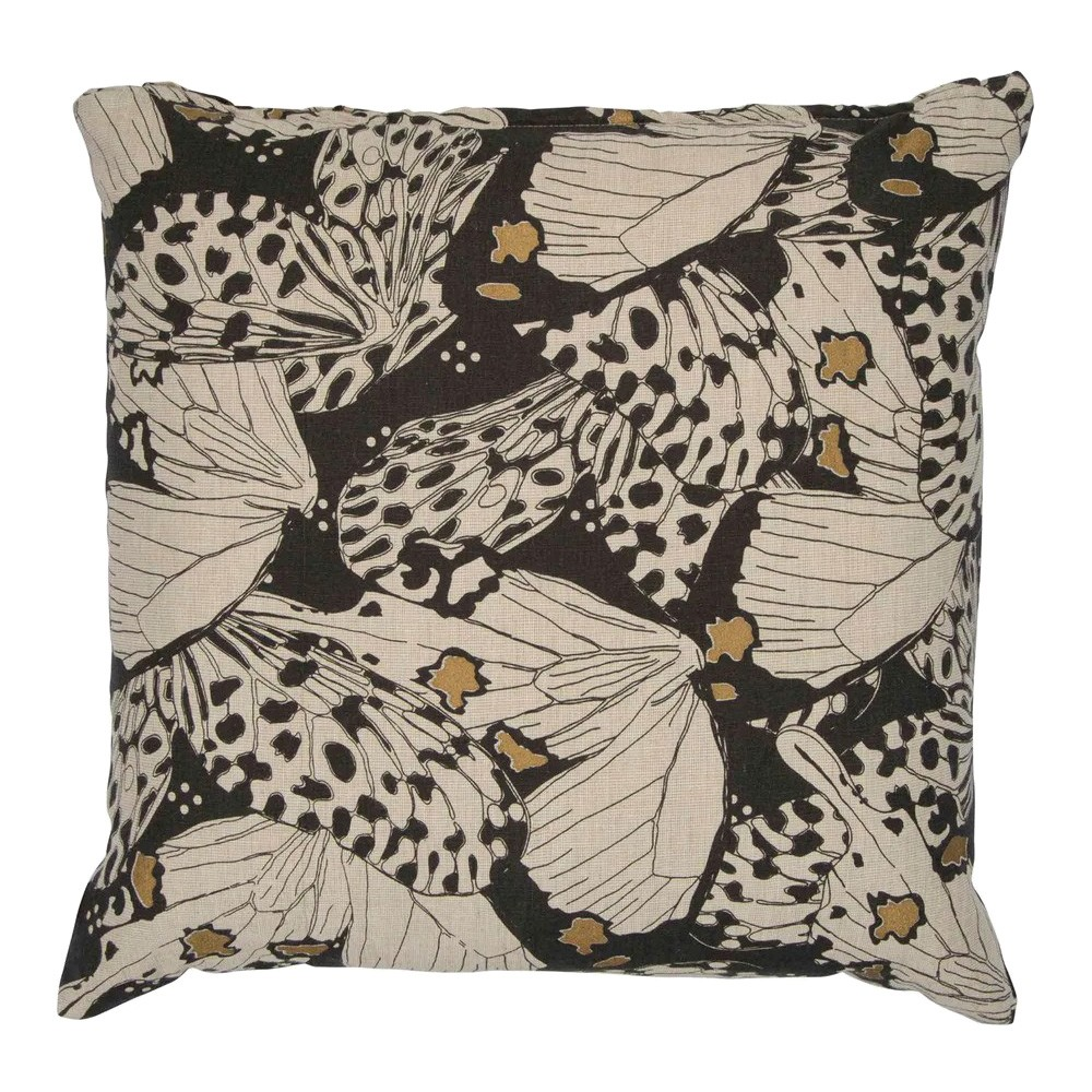 Flutterby Fabric Scatter Cushion, Charcoal