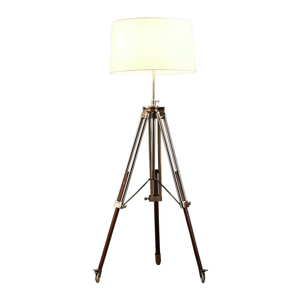 Loft Tripod Floor Lamp, Brushed Nickel