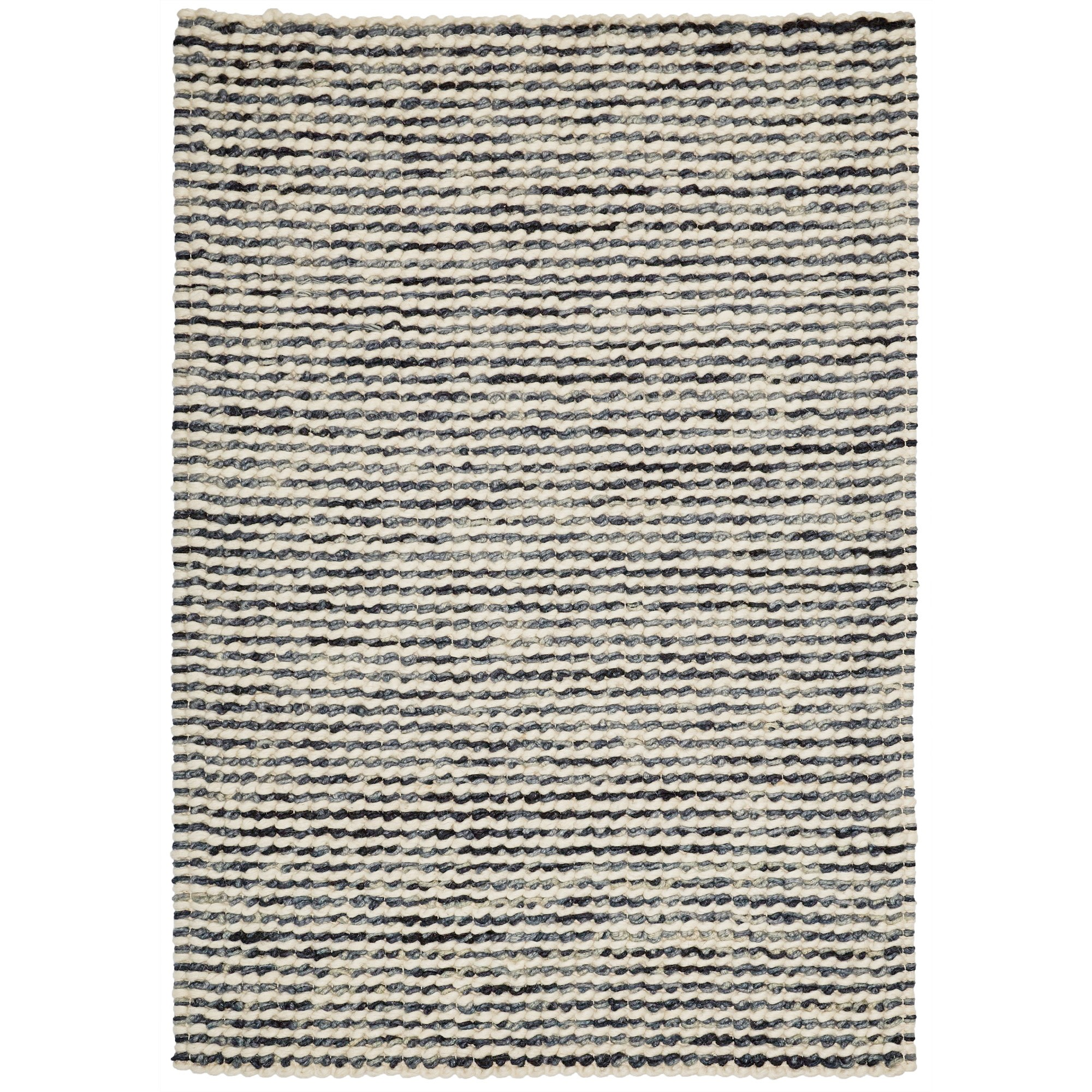 Knight Wool Rug, 290x200cm, Cream / Grey