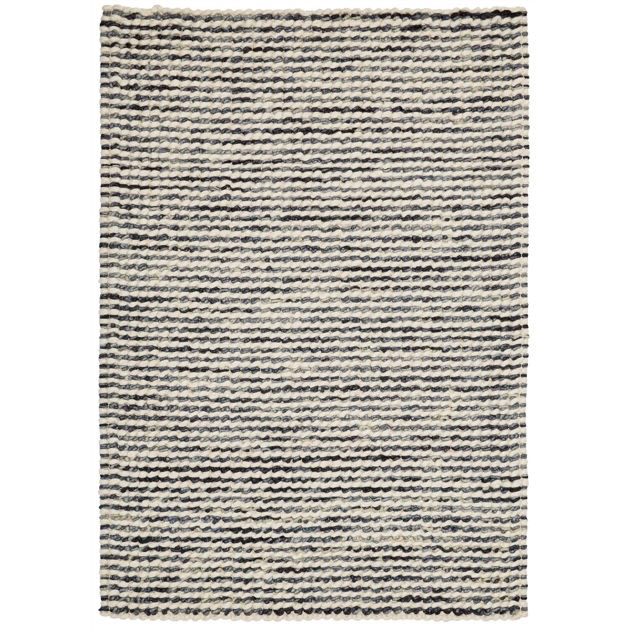 Knight Wool Rug, 290x200cm, Cream / Grey