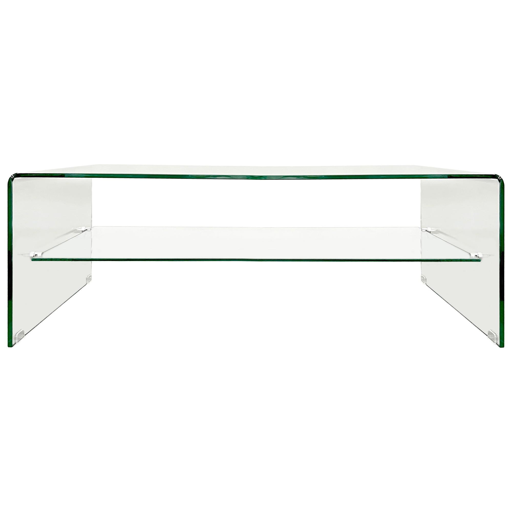 Glacier Glass Coffee Table, 120cm, Clear