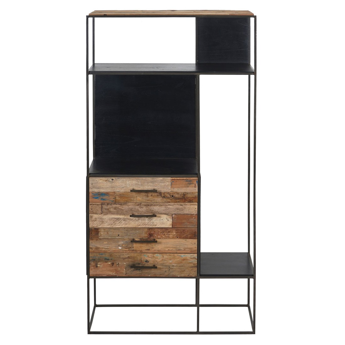 Sublime Commercial Grade Recycled Timber & Iron Storage Unit