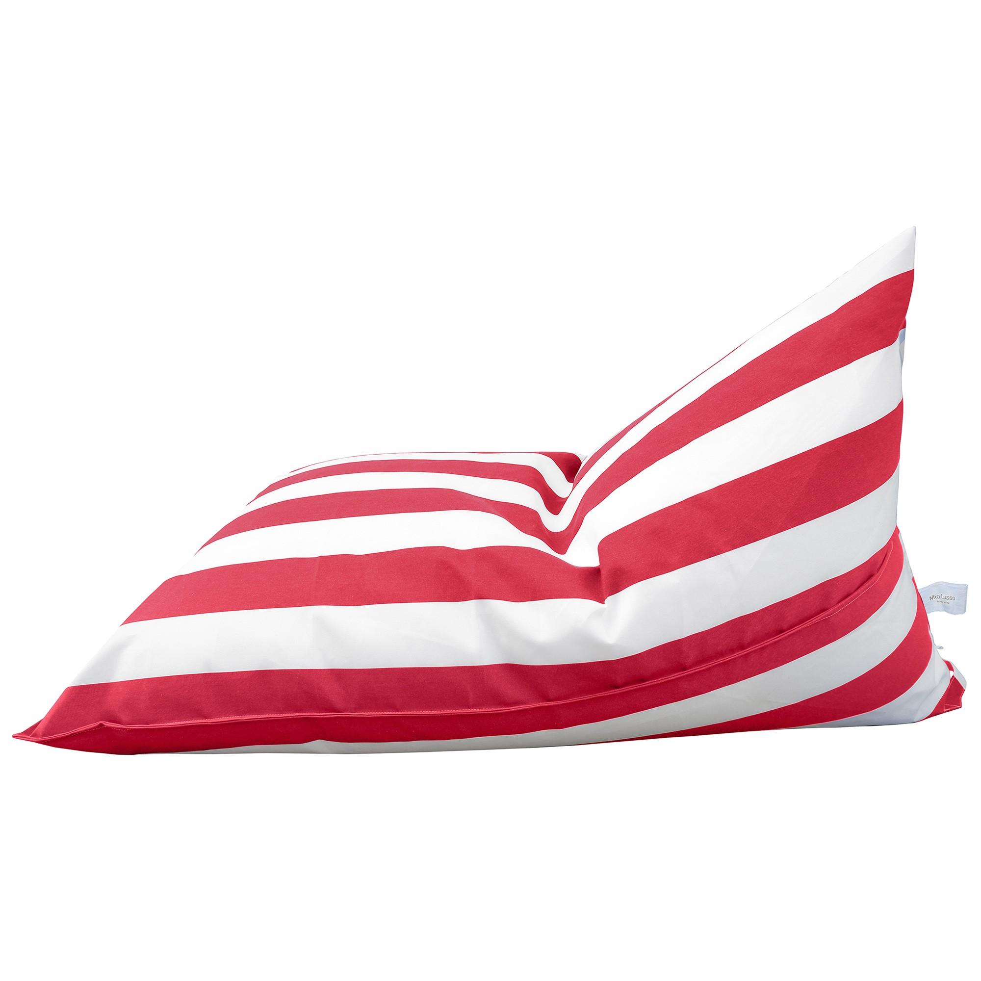 Kastos Fabric Indoor / Outdoor Bean Bag Cover, Red Strip