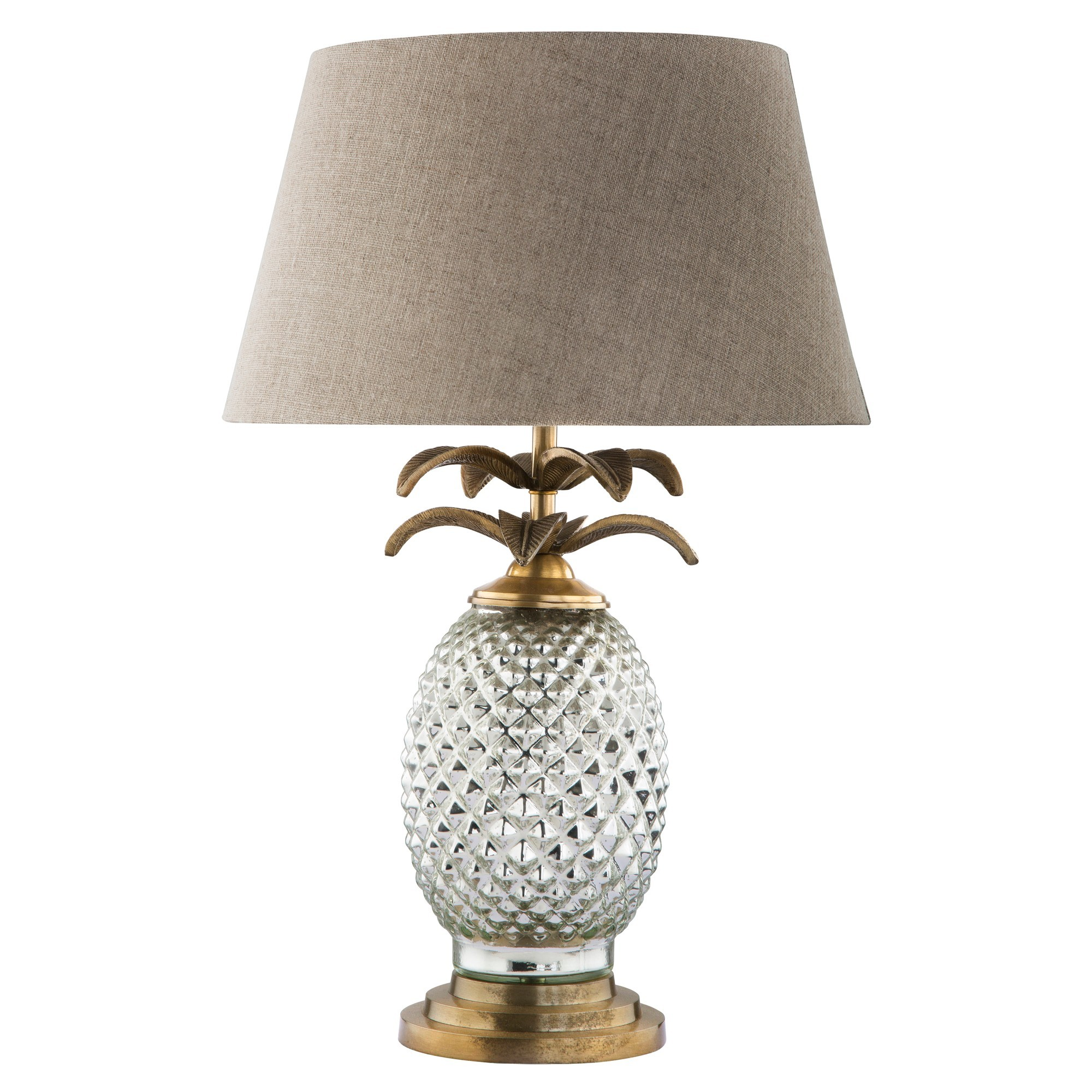 Schmidt Embossed Glass Base Table Lamp