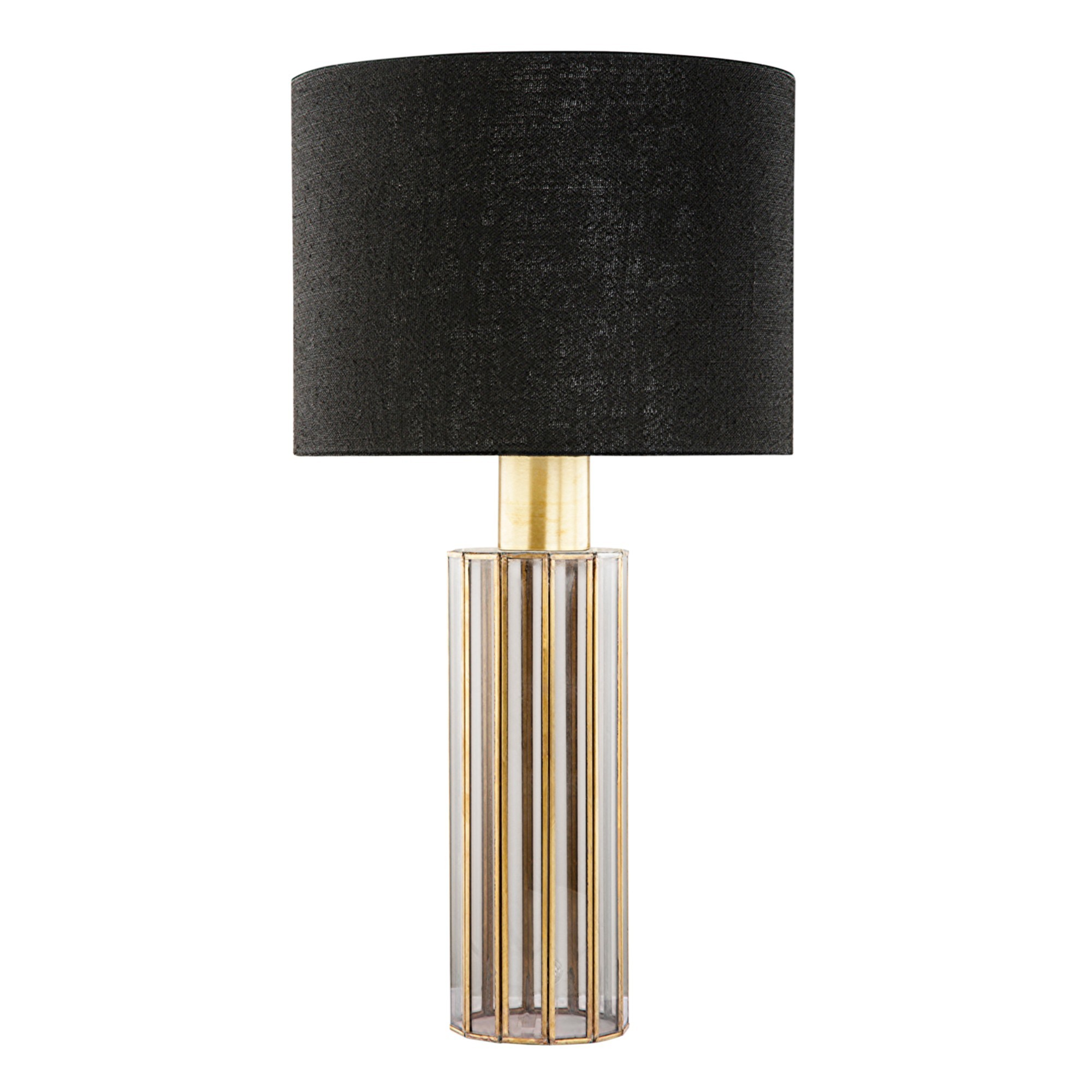 Feeney Metal Framed Glass Base Table Lamp
