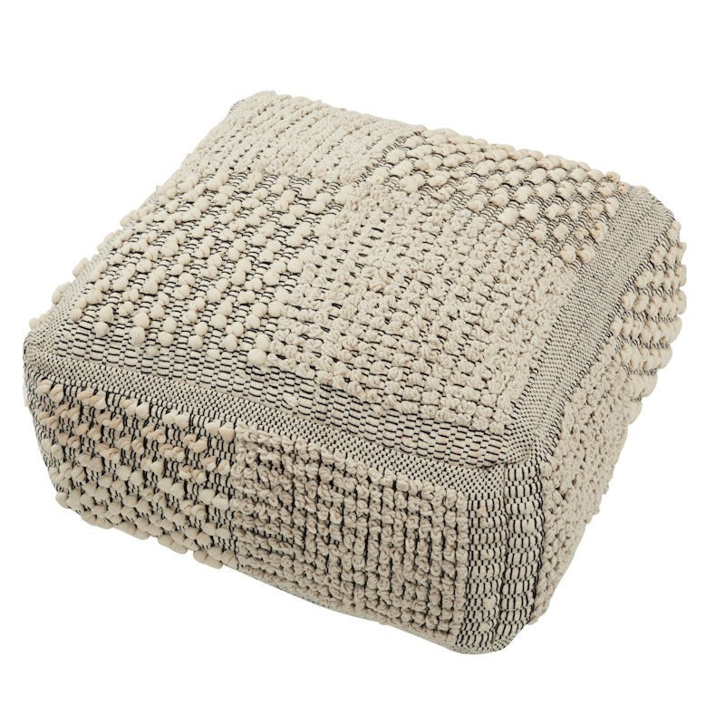 Bronx Cotton Square Pouf