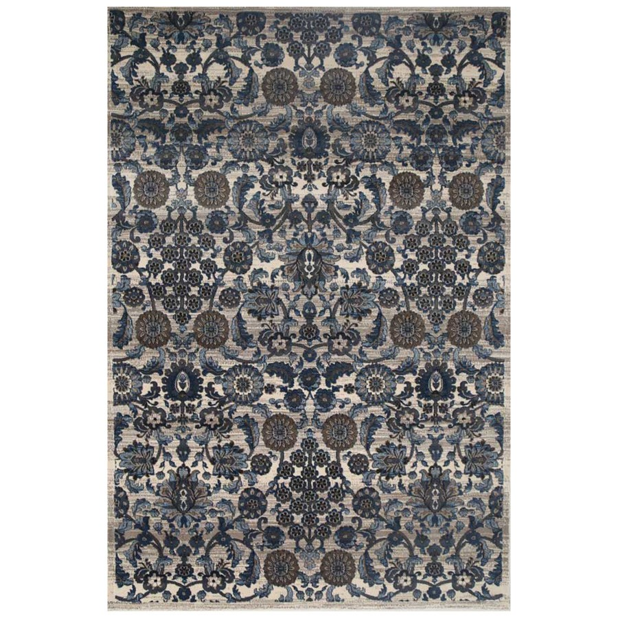 Seca Monroe Transitional Rug, 240x330cm, Bone / Navy