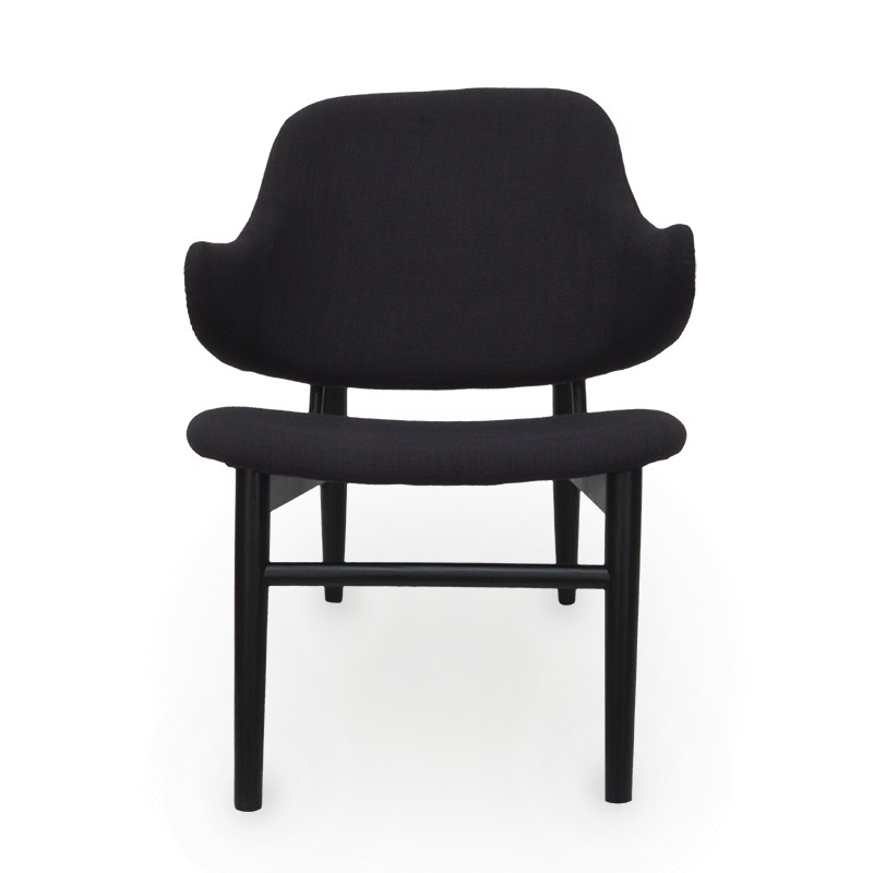 Replica IB Kofod Larsen Easy Lounge Chair, Black