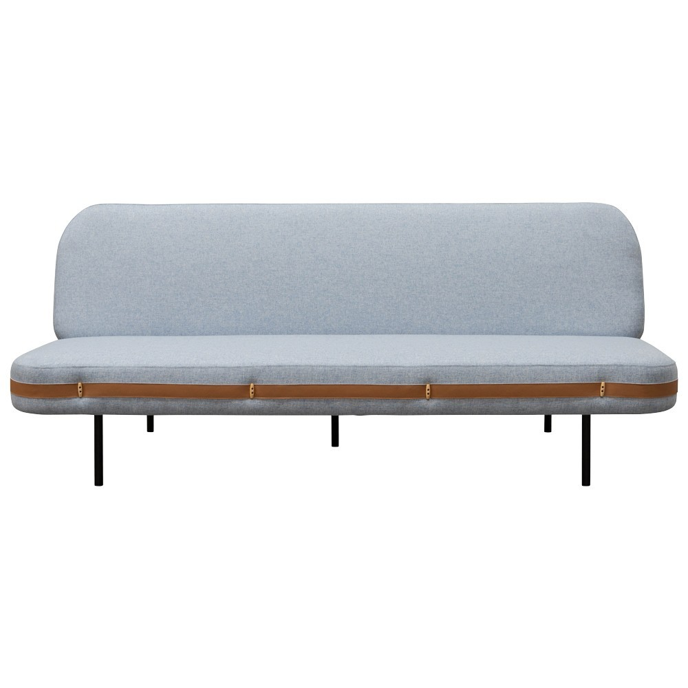 Claremont Fabric Clic Clac Sofa Bed, 3 Seater, Blue Grey