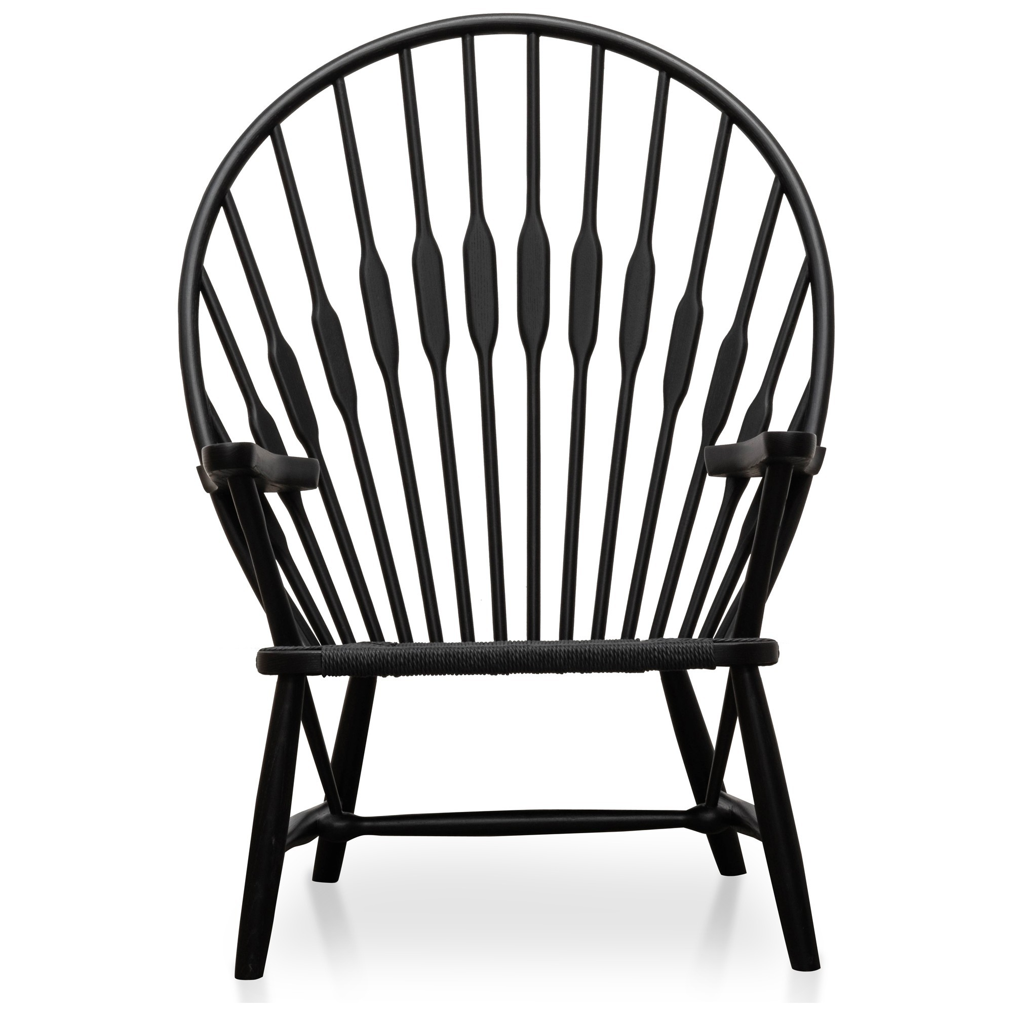 Replica Hans Wegner Peacock Chair, Black