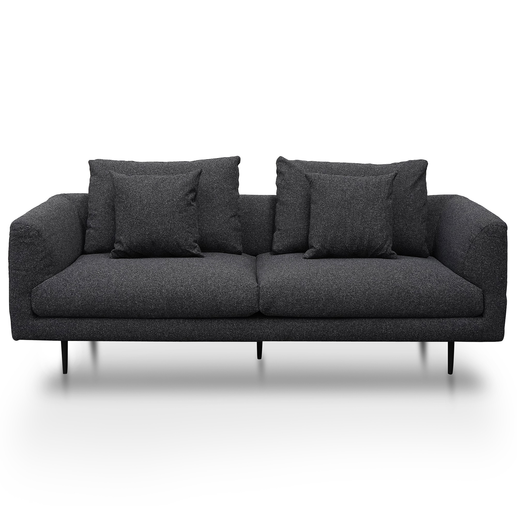 Shepherds Fabric Sofa, 3 Seater, Dark Grey
