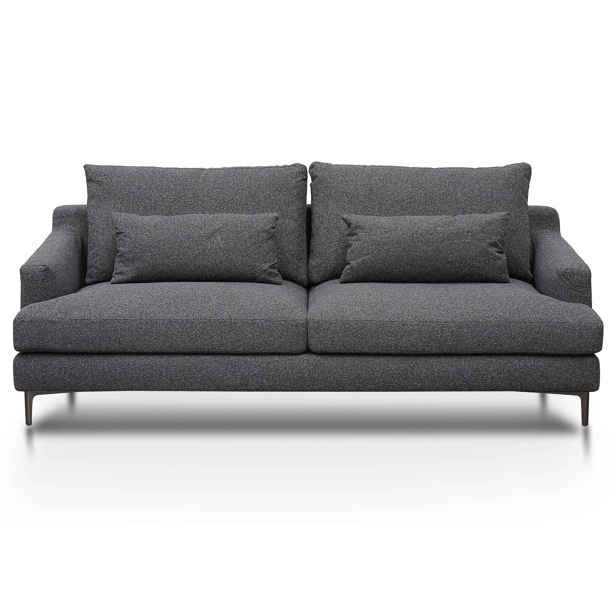 Bennett Fabric Sofa, 3 Seater, Dark Grey