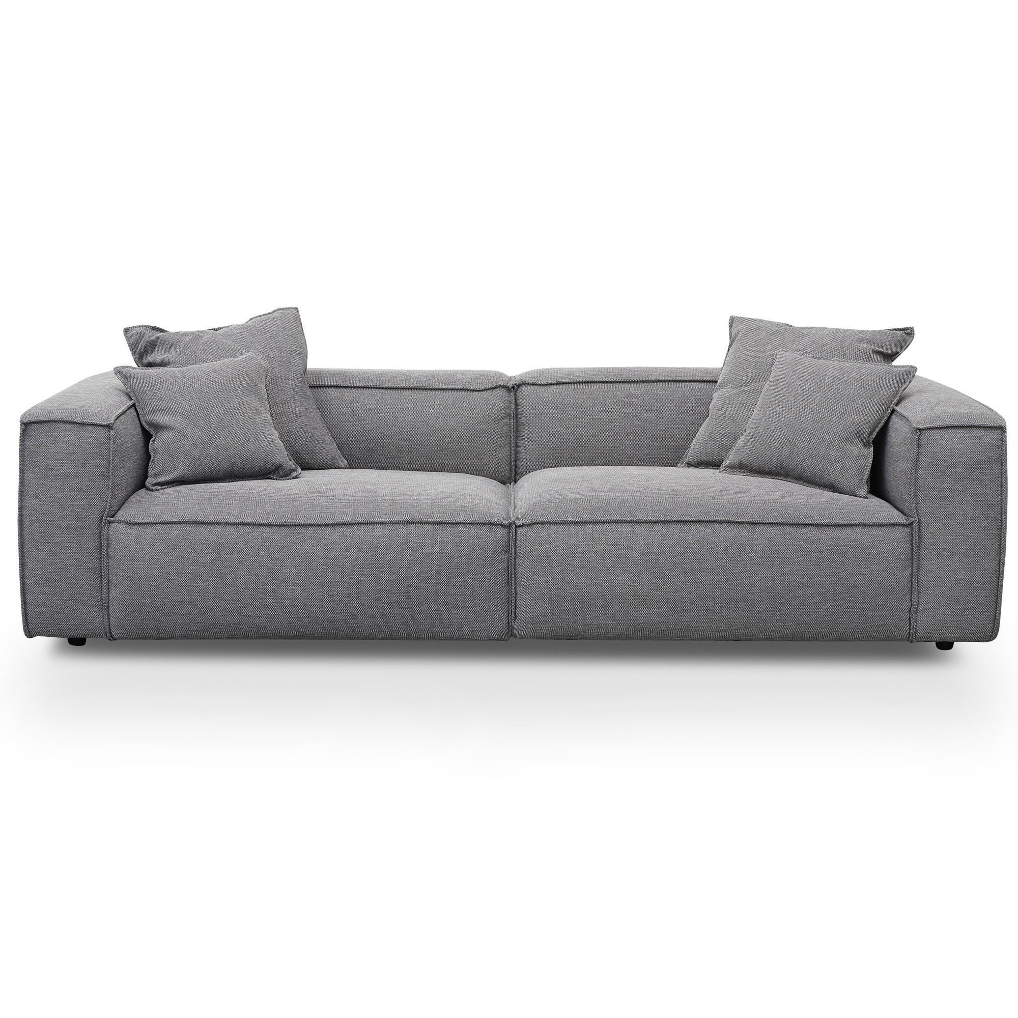 Malpas Fabric Modular Sofa, 3 Seater, Graphite Grey