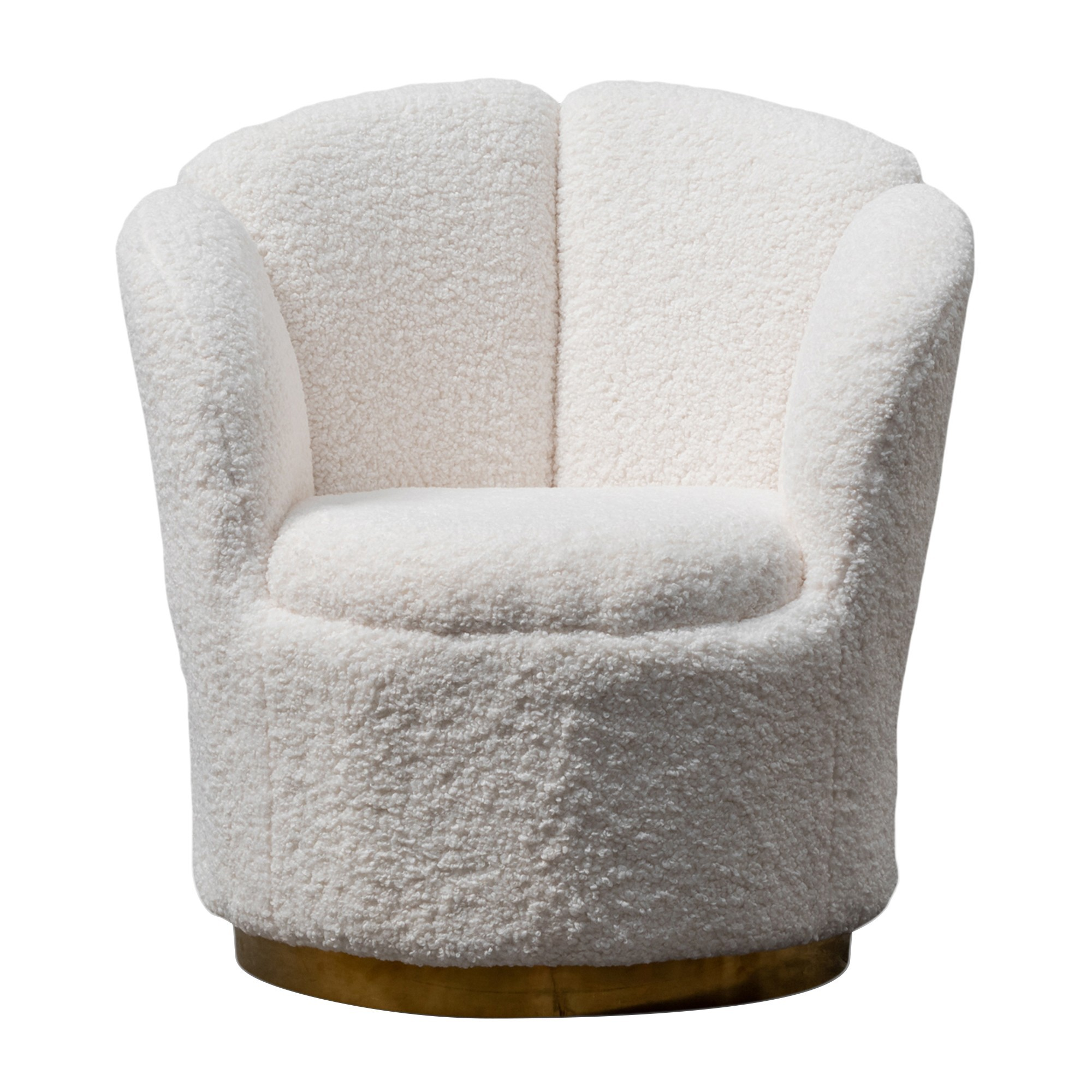Blount Synthetic Wool Lounge Chair