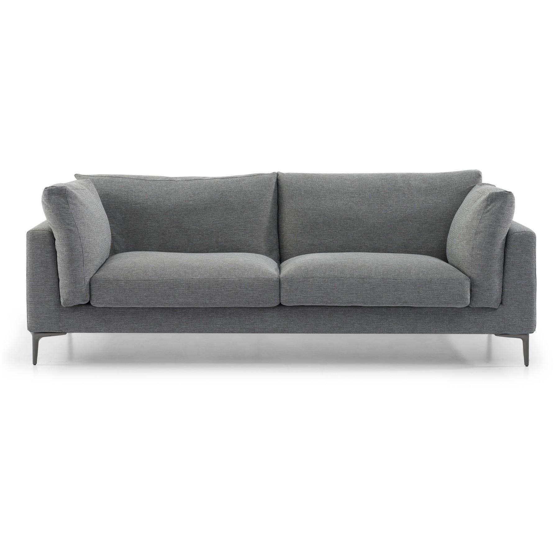 Romney Fabric Sofa, 3 Seater, Graphite Grey