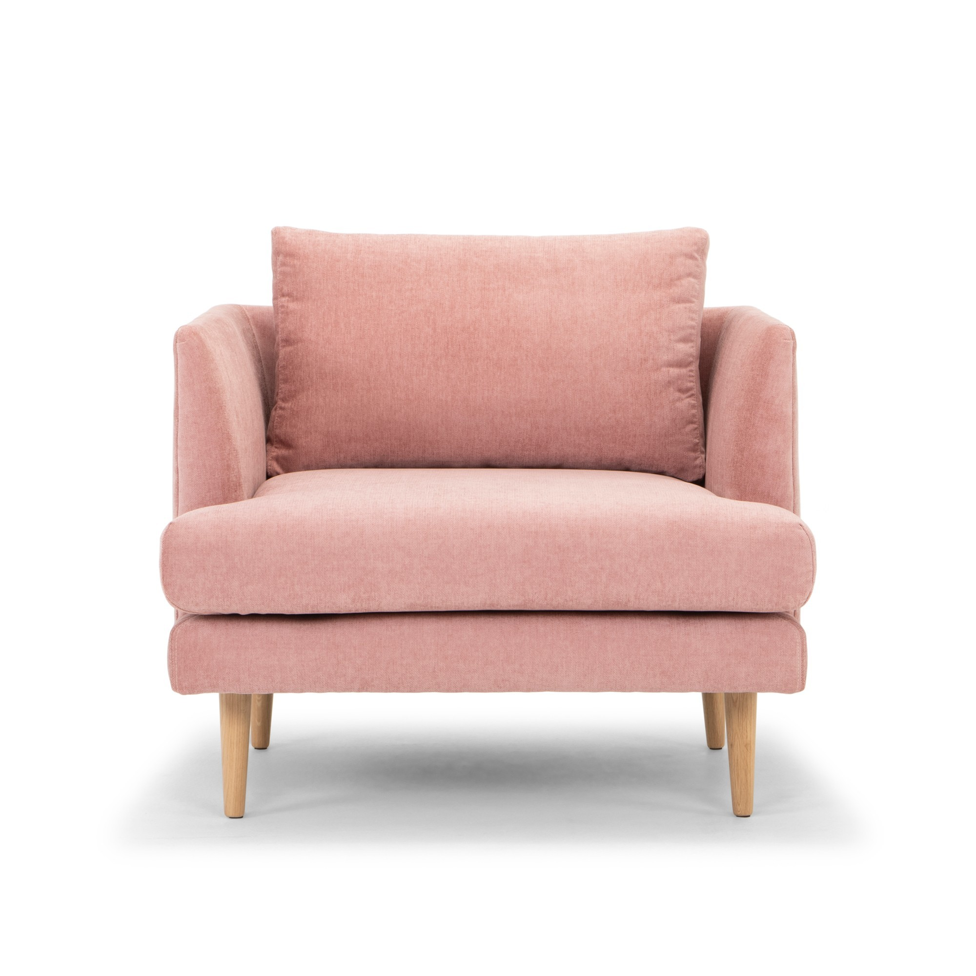 Mina Fabric Armchair, Dusty Blush
