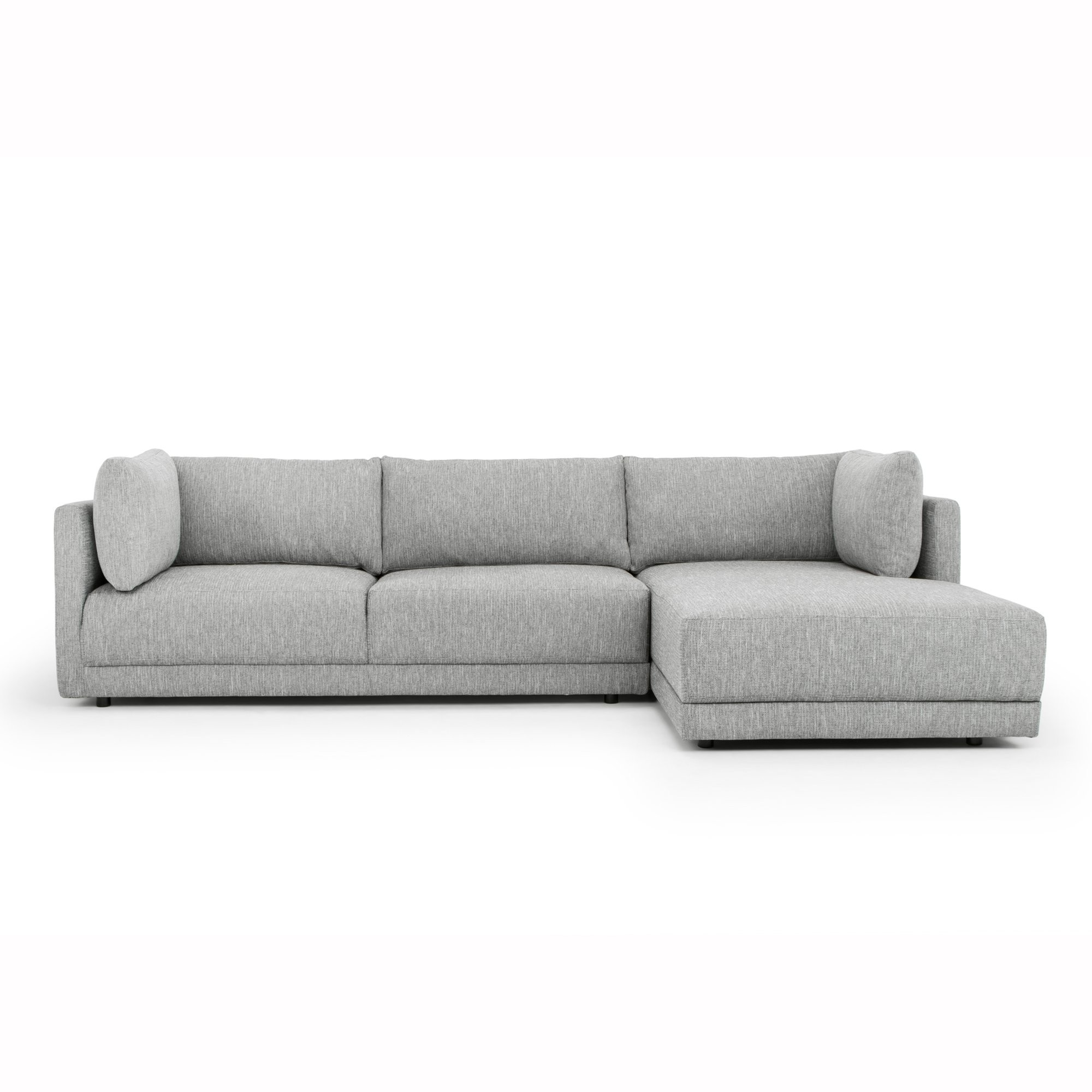 Hensley Fabric Corner Sofa, 2 Seater with RHF Chaise, Graphite Grey