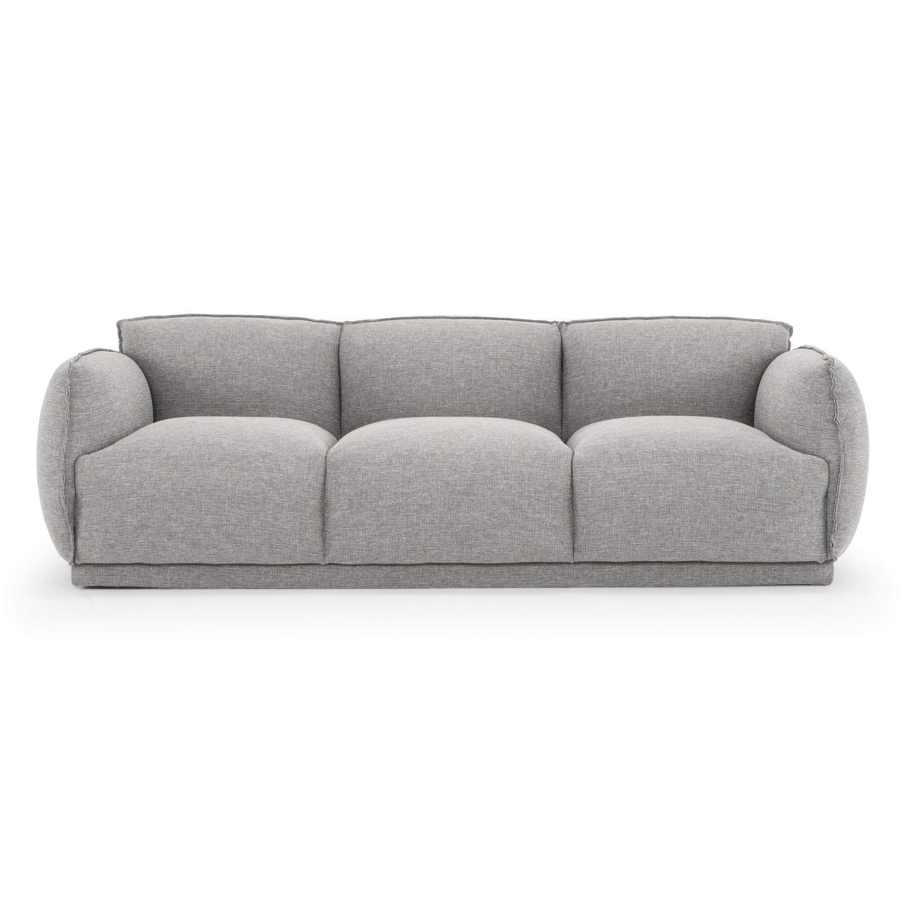 Euroa Fabric Sofa, 3 Seater, Graphite Grey
