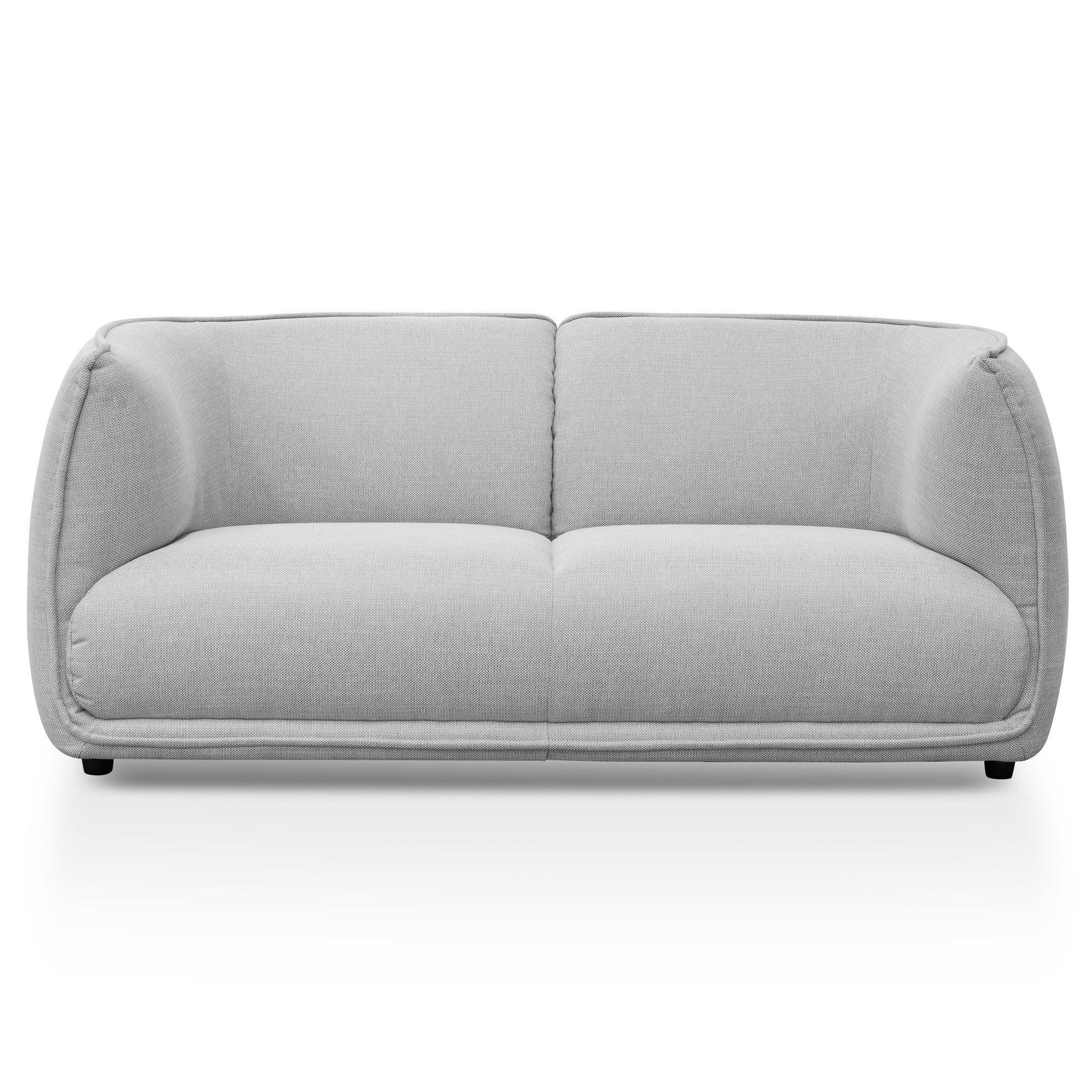 Elza Fabric Sofa, 2 Seater, Light Grey