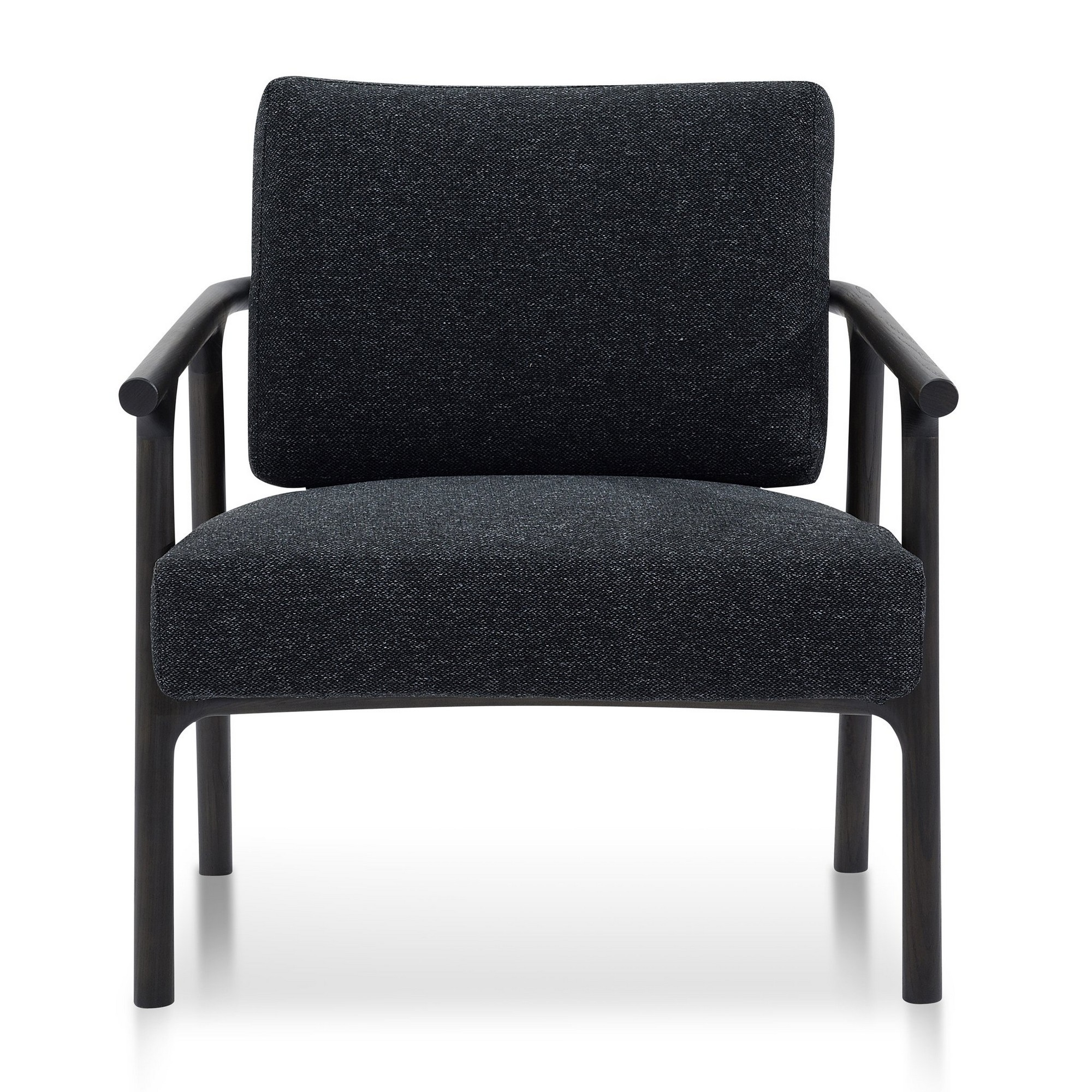 Cardiff Fabric & Wood Armchair, Charcoal / Black