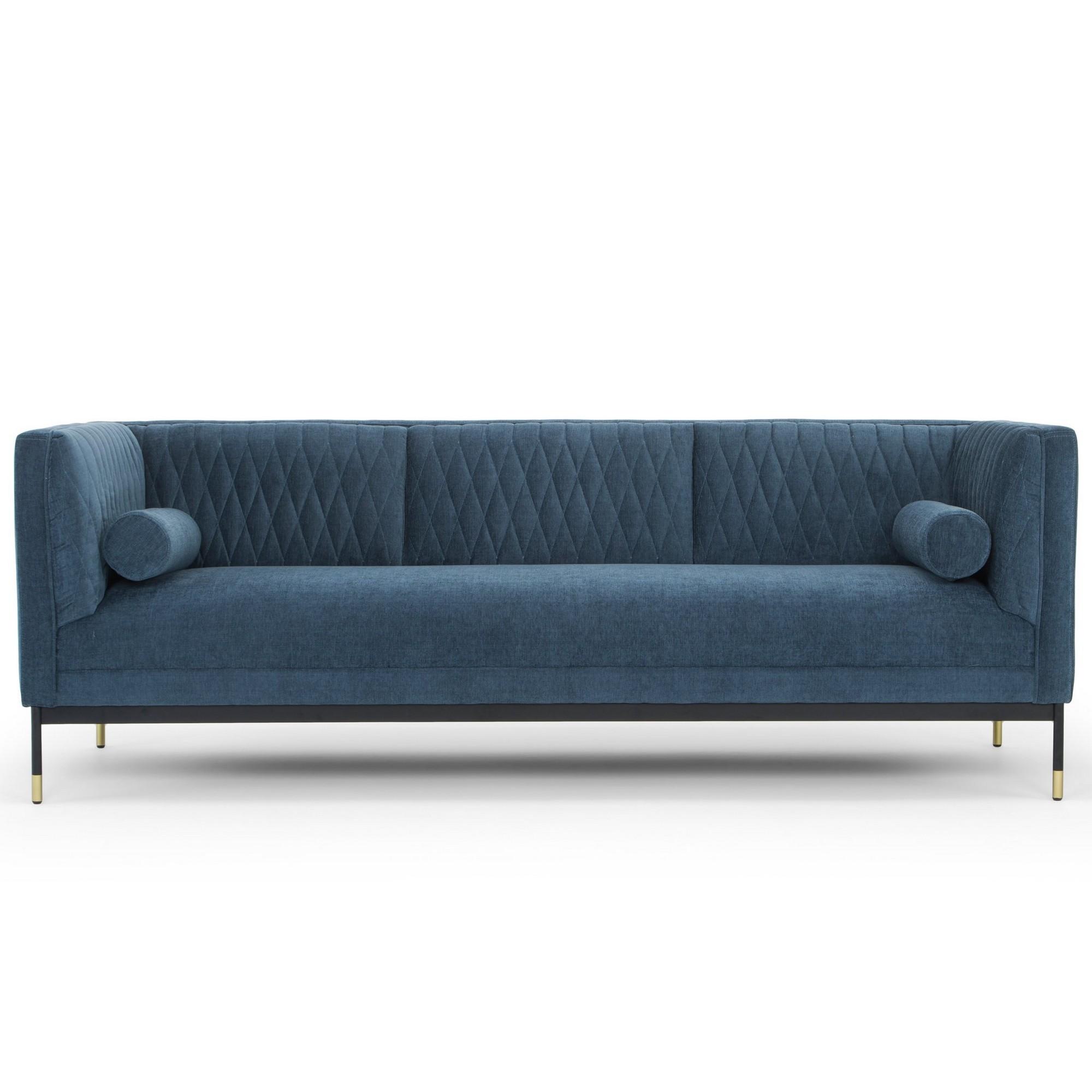 Coriole Fabric Sofa, 3 Seater, Dusty Blue