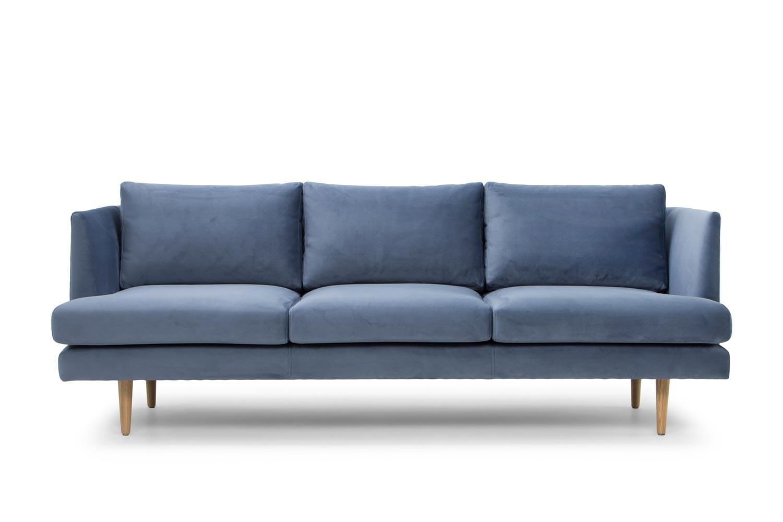 Mina Fabric 3 Seater Sofa, Dust Blue