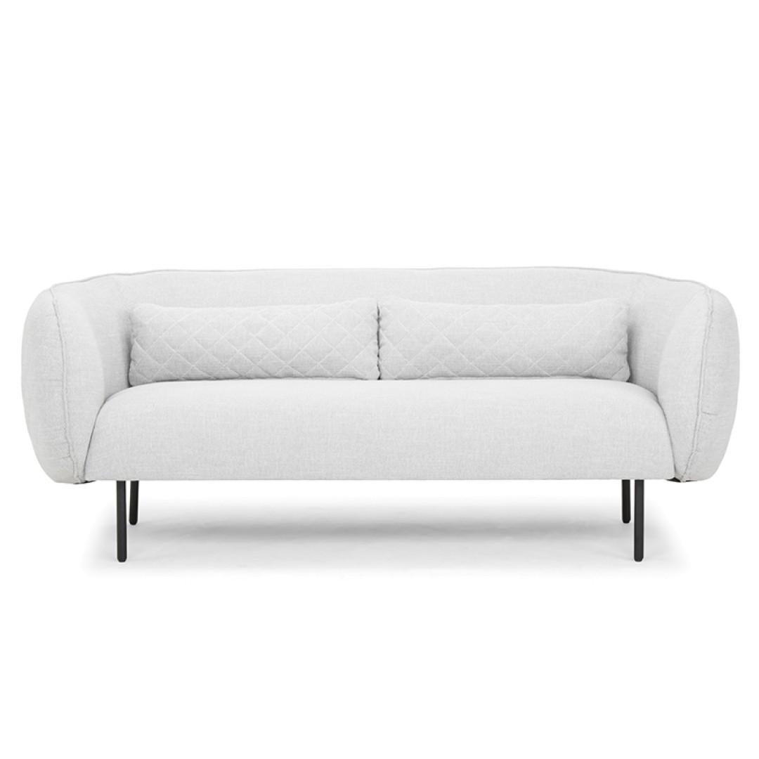 Osele Fabric 3 Seater Sofa, Light Grey