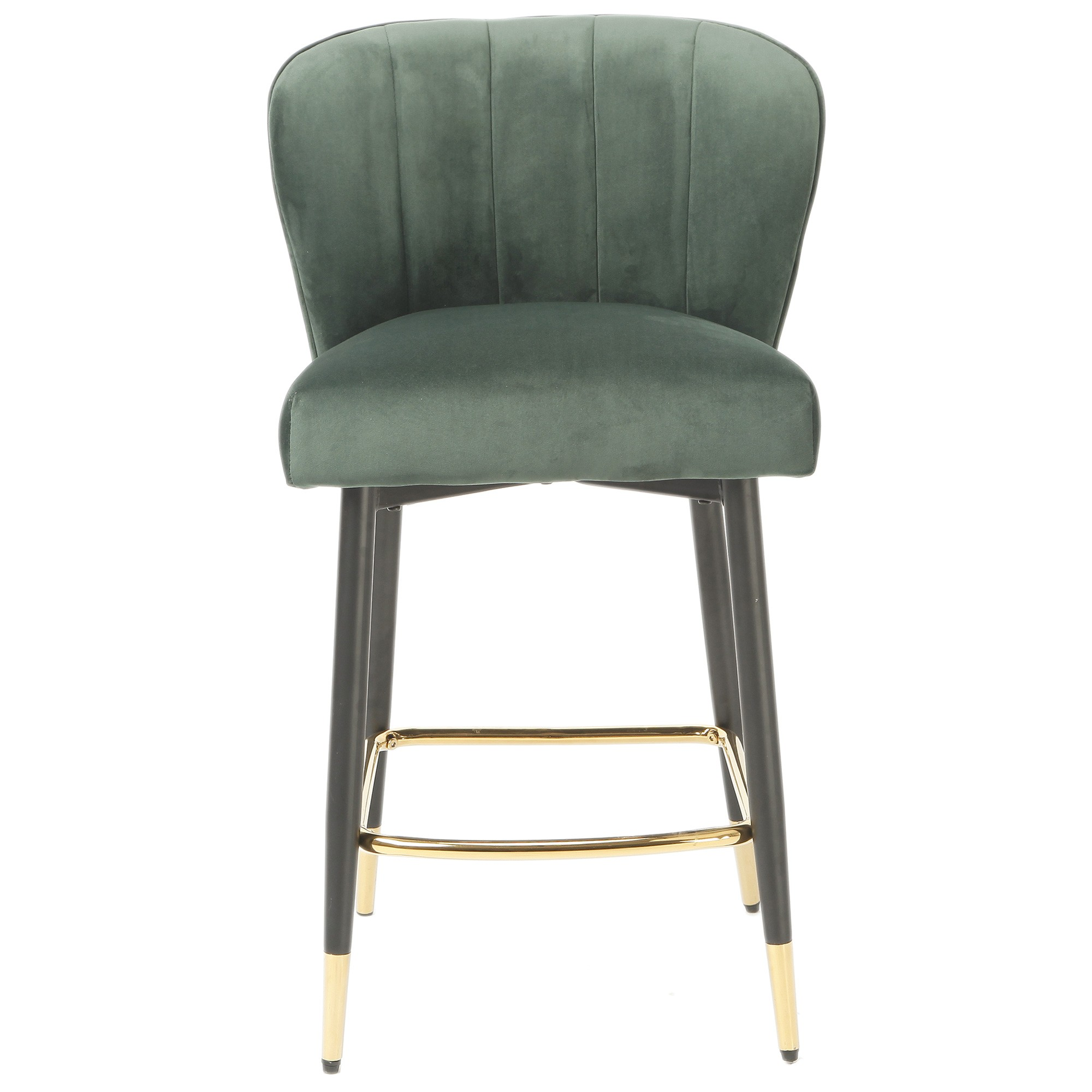 Flinders Velvet Fabric Counter Stool, Emerald