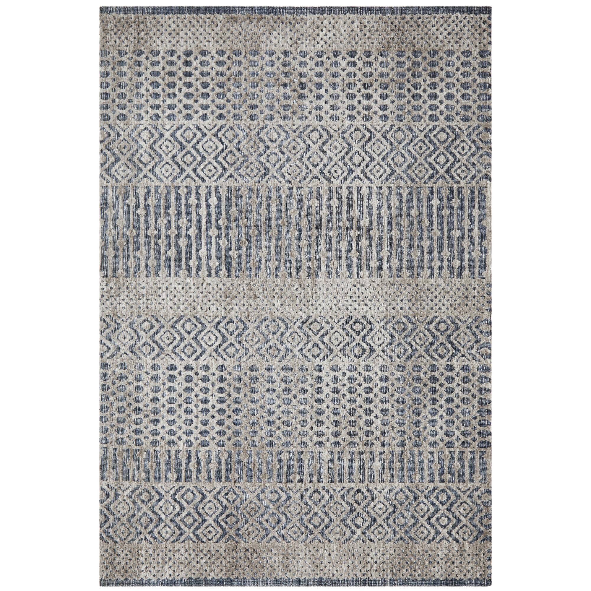 Levi Linden Tribal Rug, 400x300cm, Navy / Grey