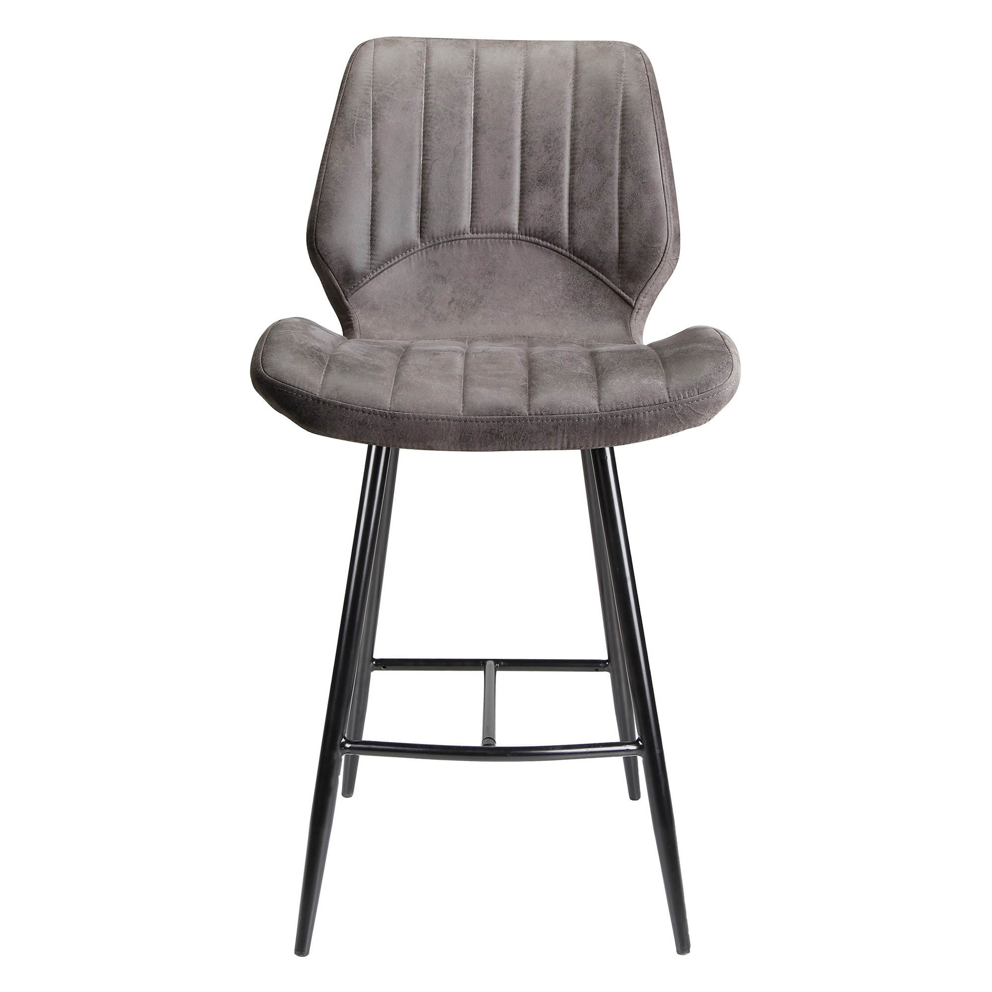 Levi Ultrasuede Fabric Counter Stool, Grey