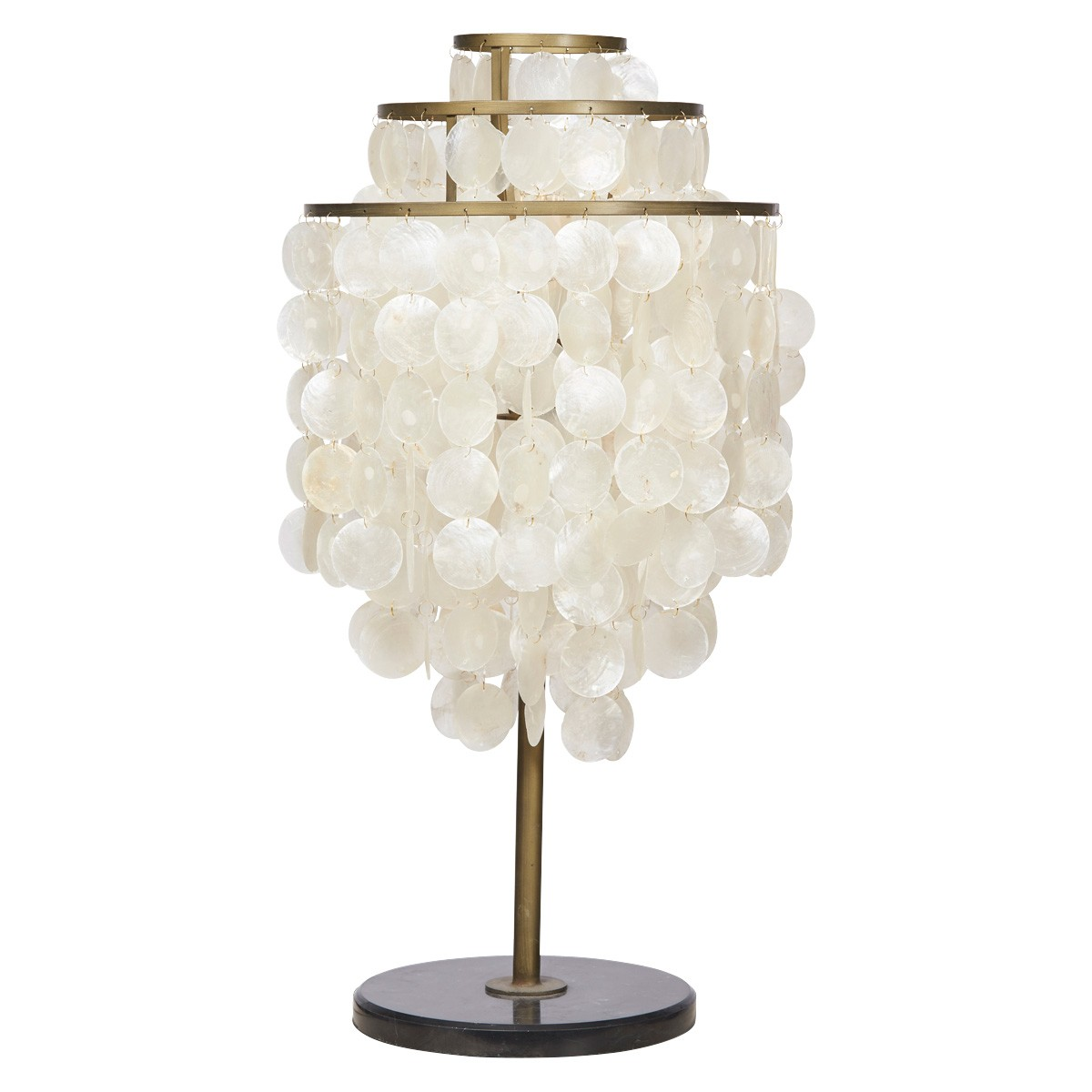 Tyro Capiz Shell Tierred Table Lamp